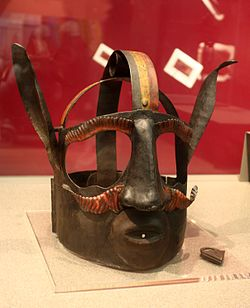 Branks     was an iron head brace or instrument of torture to prevent women from talking (Scolds bridle)