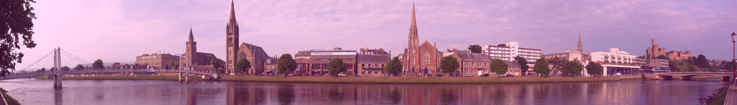 Inverness on the banks of the River Ness