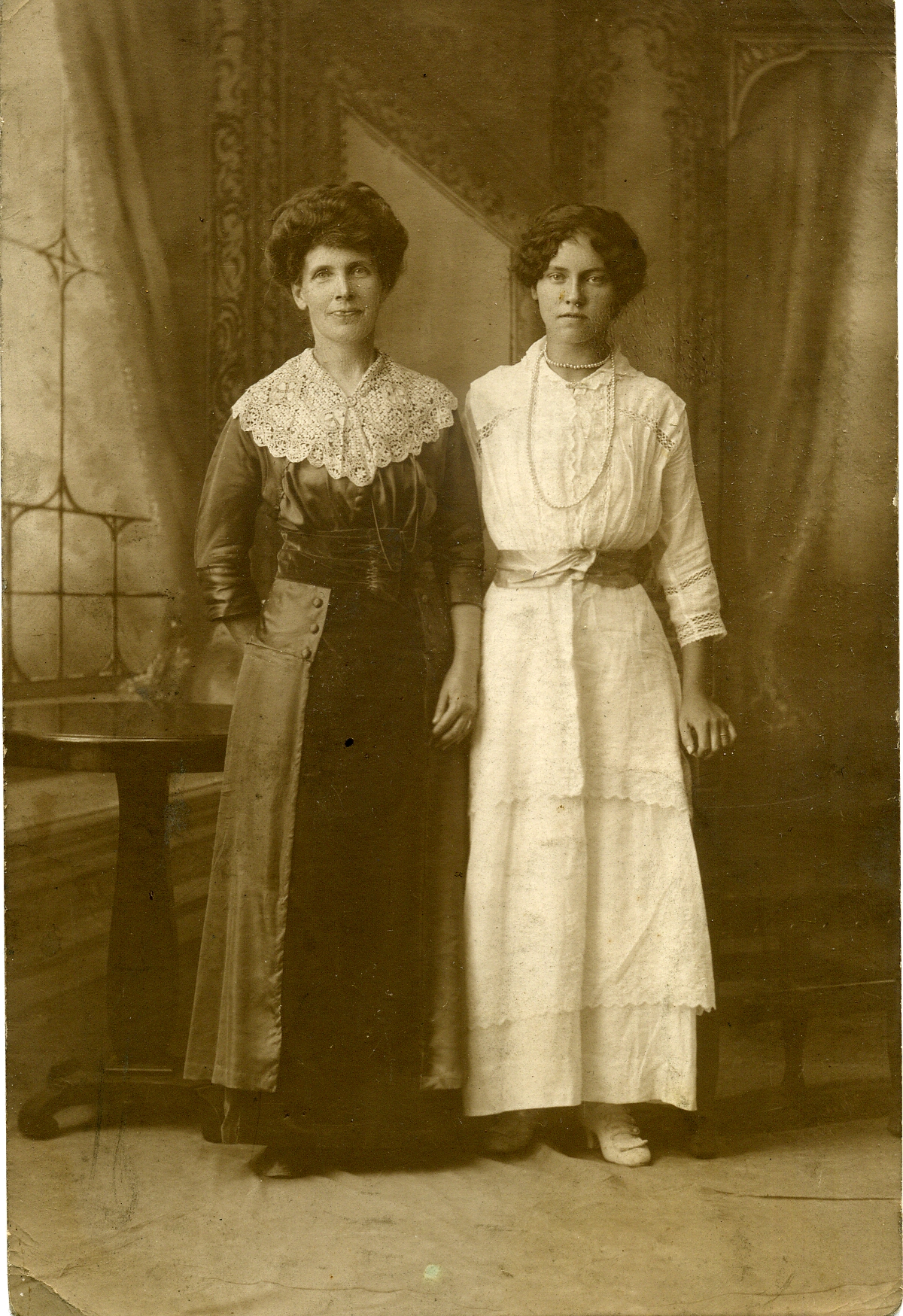 My Great Aunt and her daughter on her wedding day 1911.