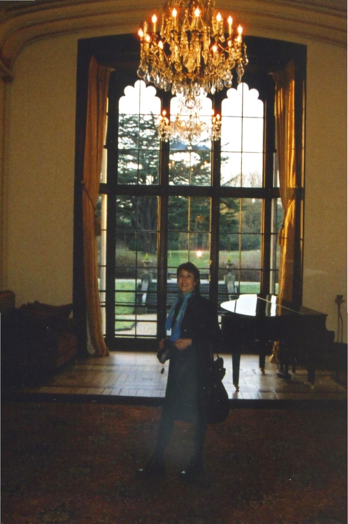 Nancy in Mar Hall Foyer