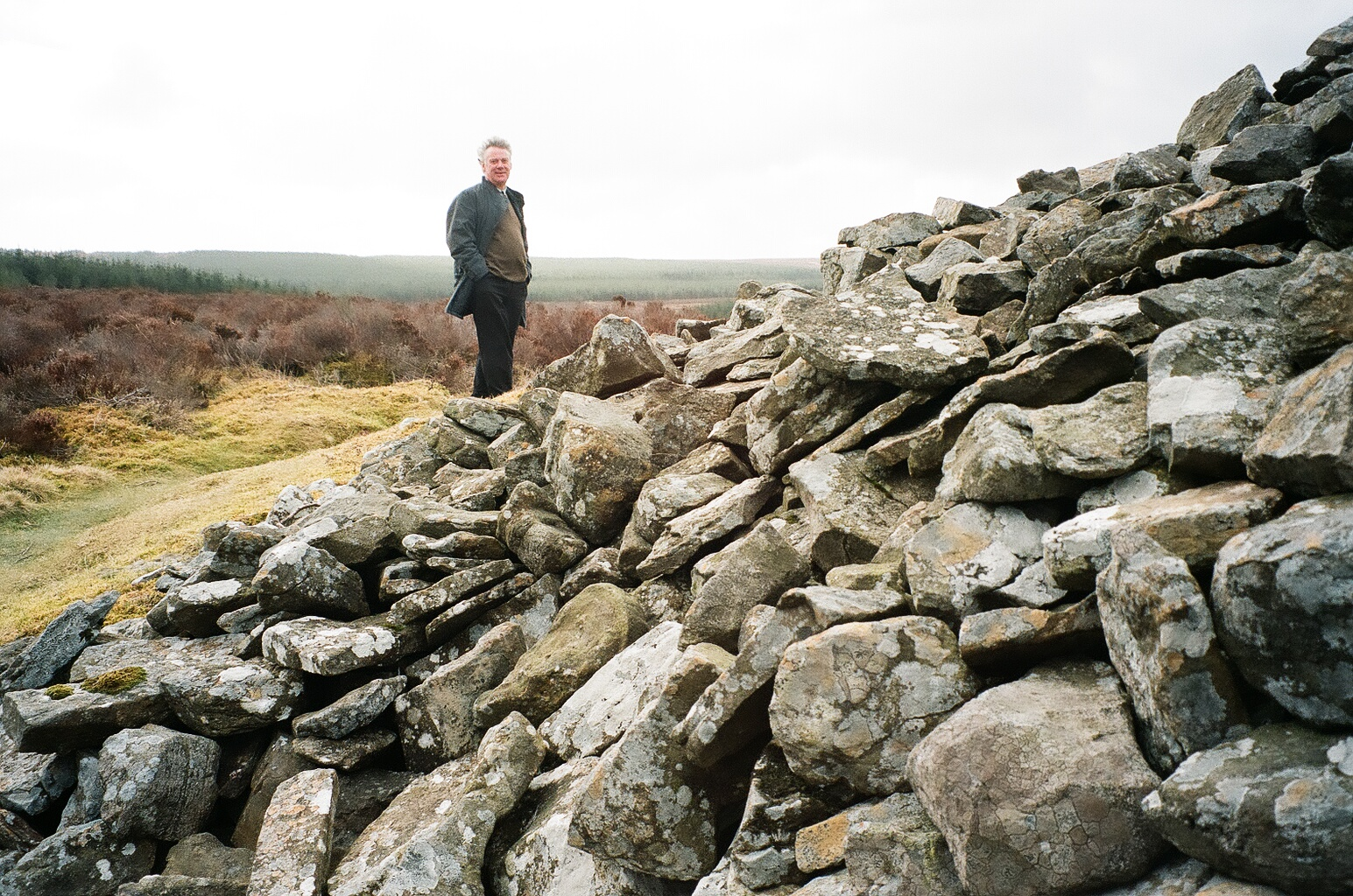 The Grey Cairns of Camster date from 3800 B.C. These 200-foot long chambered tombs are the best preserved in all of Britain.