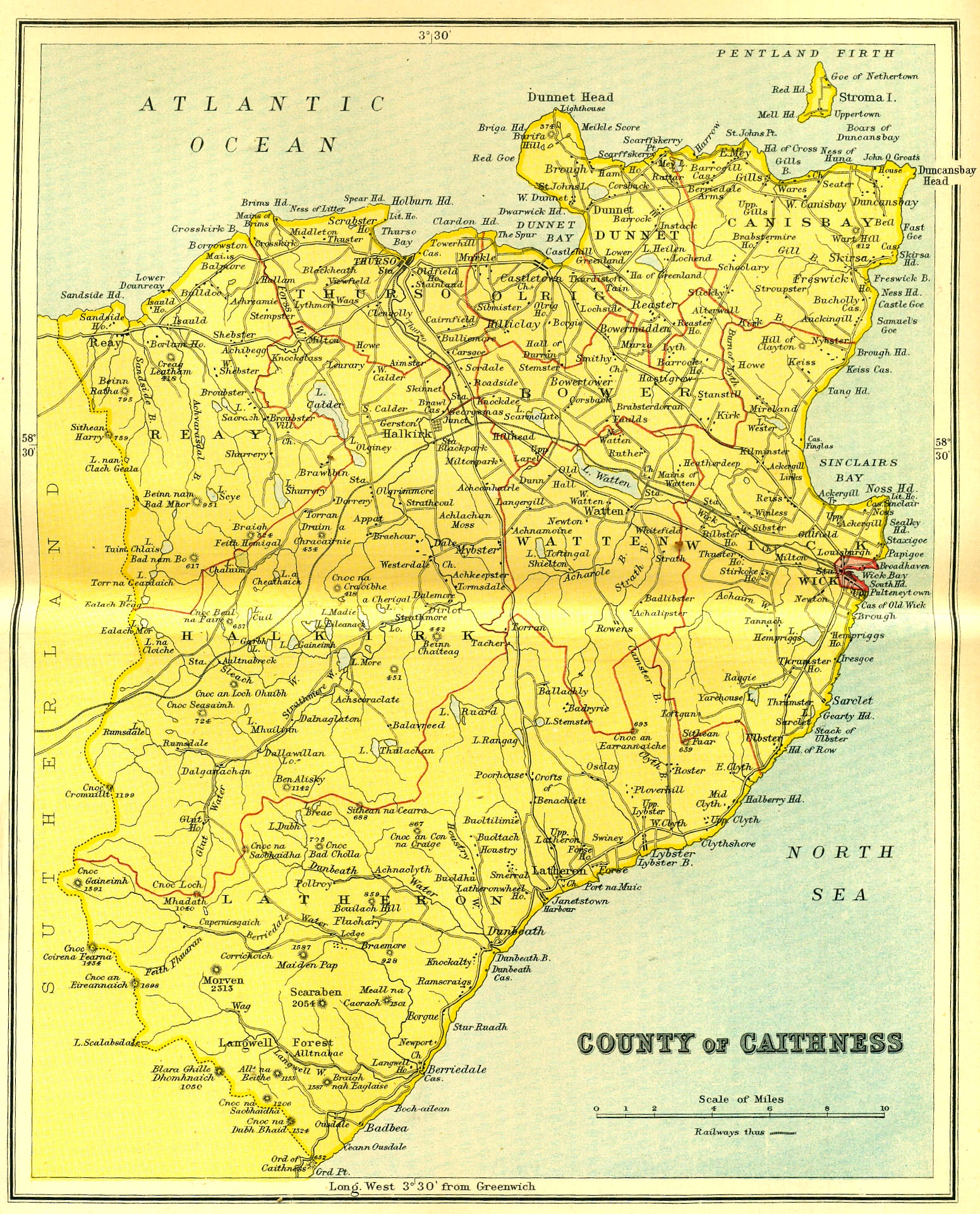 Map of County Caithness