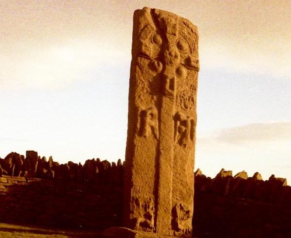 Pictish Stone with harp