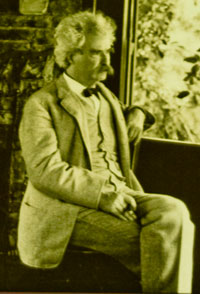 Samuel Clemens in his study