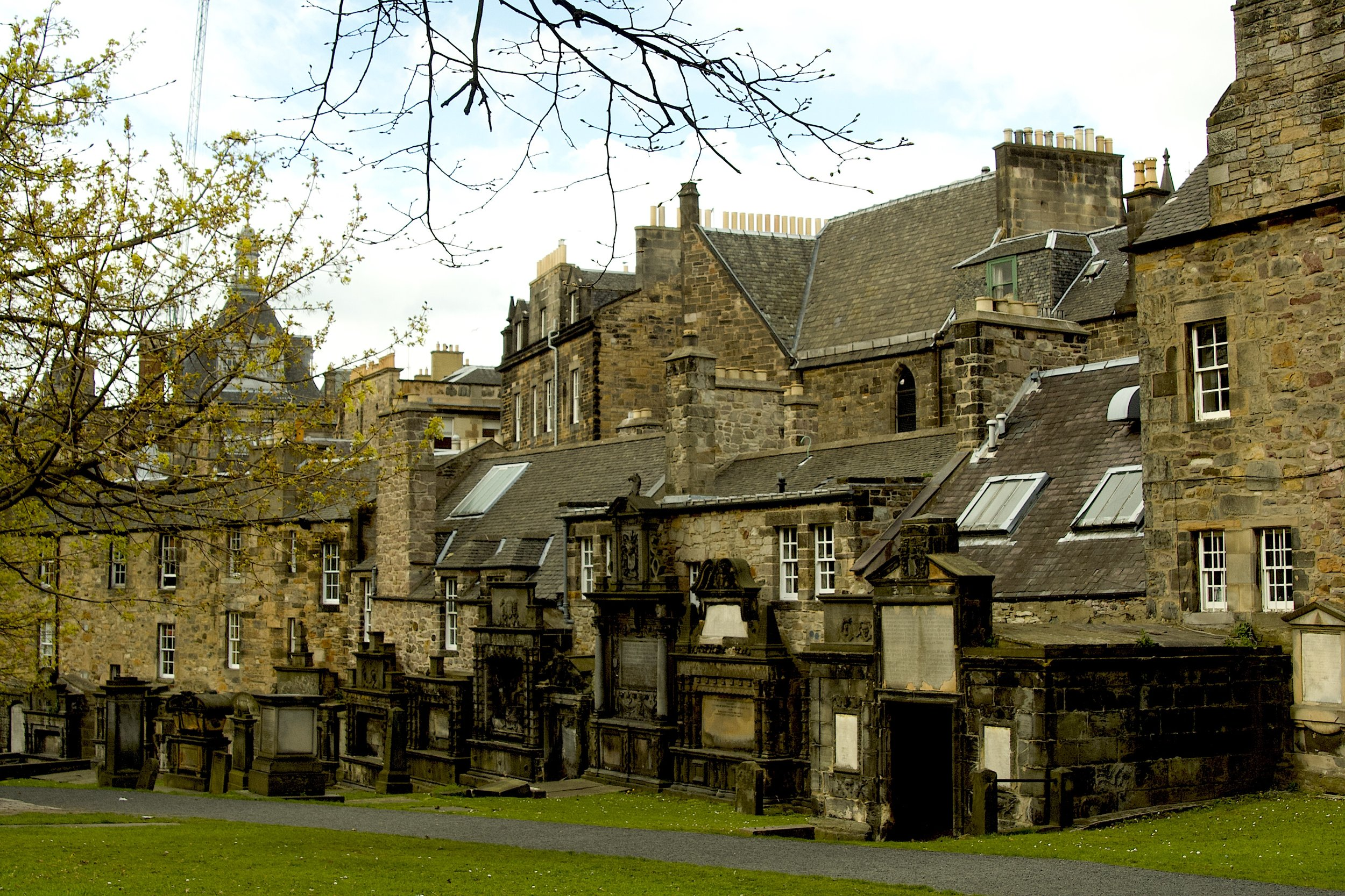 Imagine living in one of these cold stone Edinburgh houses butting up against ghoulish Greyfriars tombs and mausoleums!