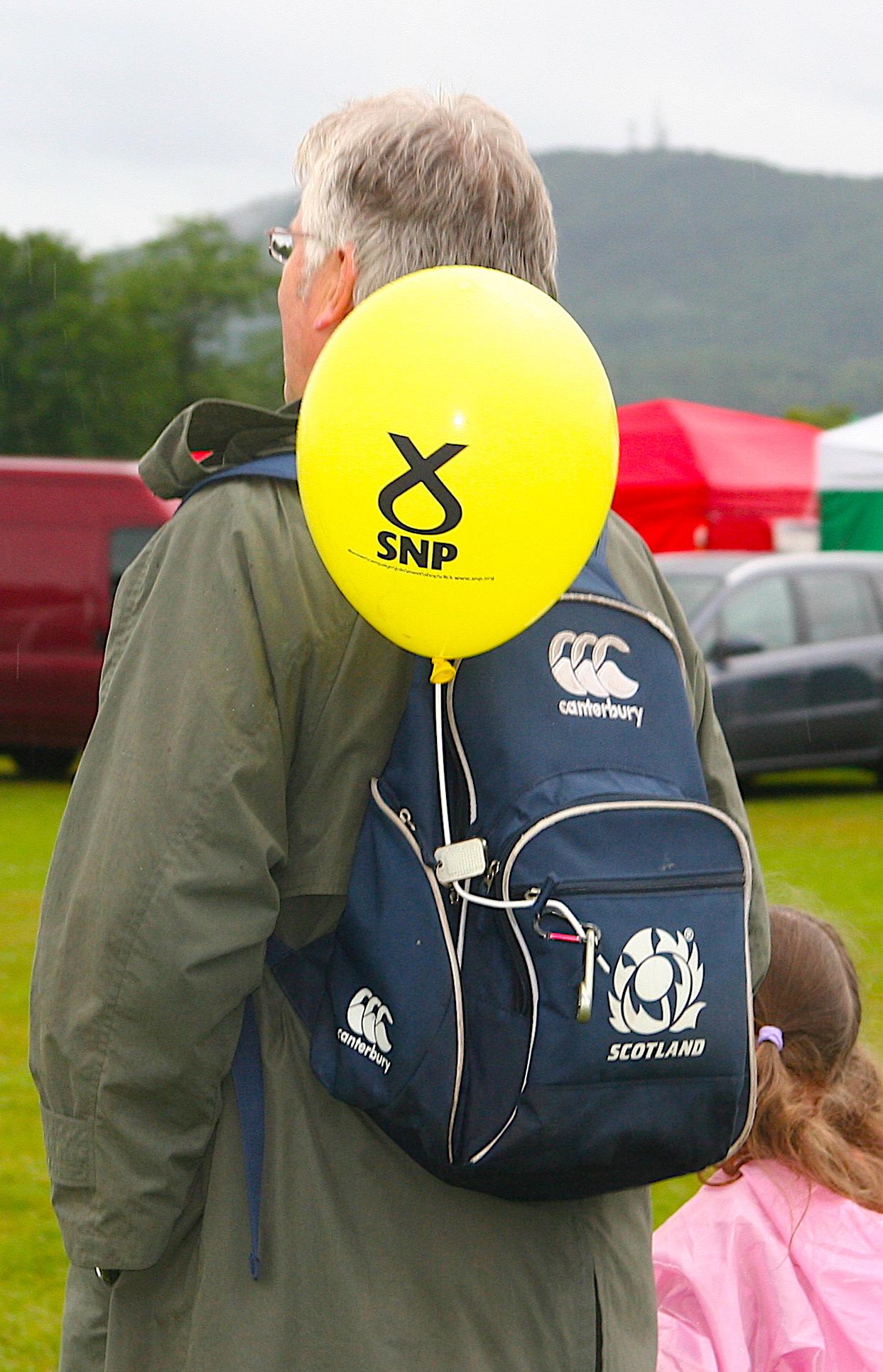 SNP yellow balloon