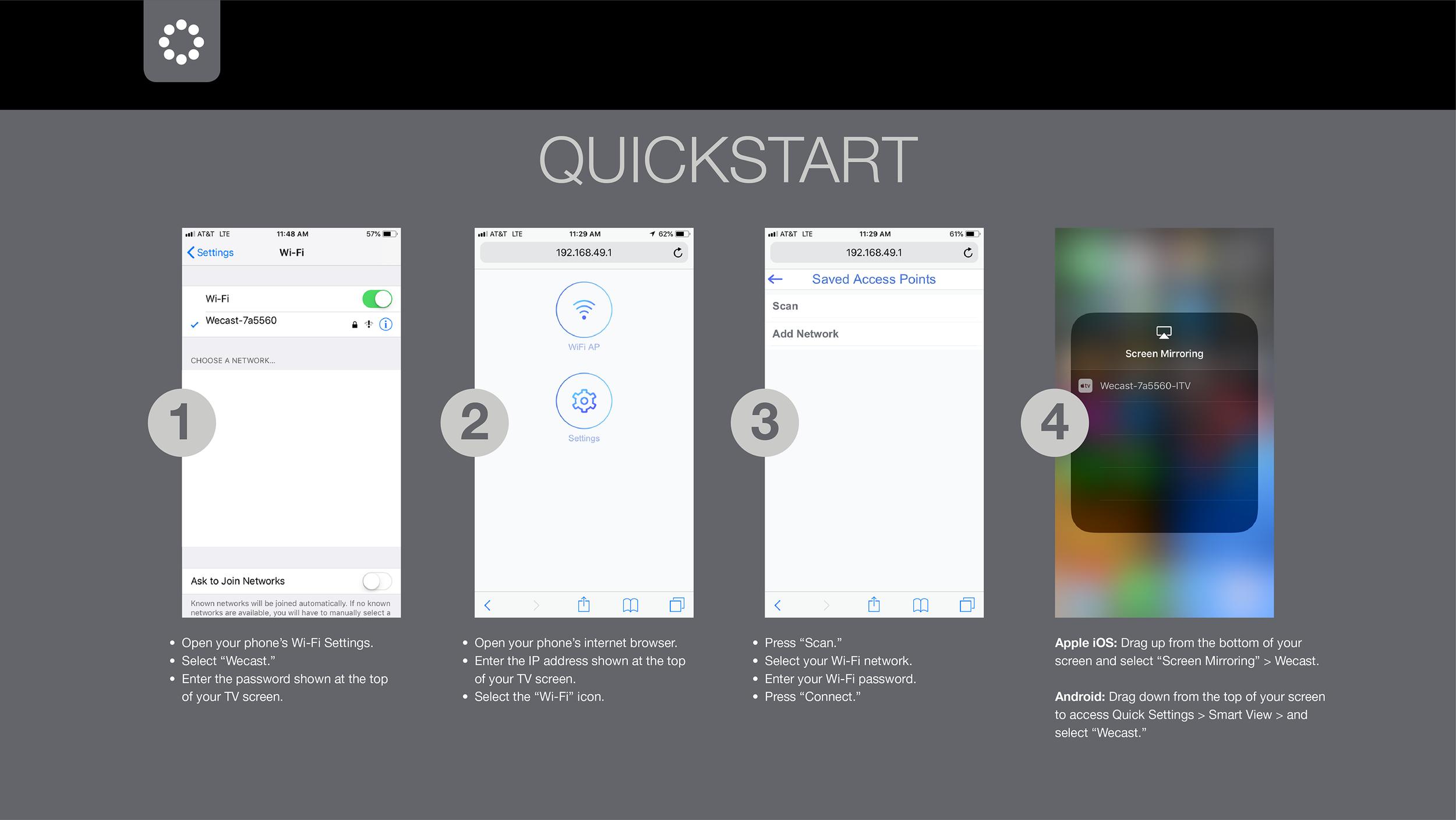 MWD38B Startup Quickstart Screen