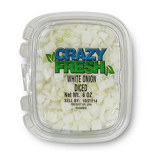 WHITE ONION DICED - 6 OZ. — 82230