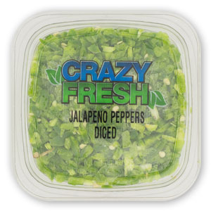 DICED JALAPENO PEPPERS - 6 OZ. — 82611