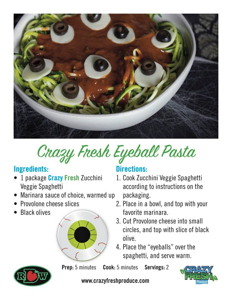 Is there anything more creepy than eyeball pasta? This is a perfect low-carb Halloween recipe!
