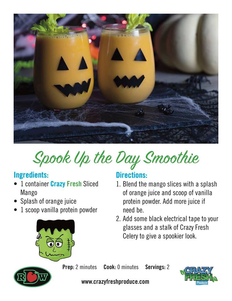 If you're looking for a healthy drink for your kids, look no further than this spooky Halloween smoothie!