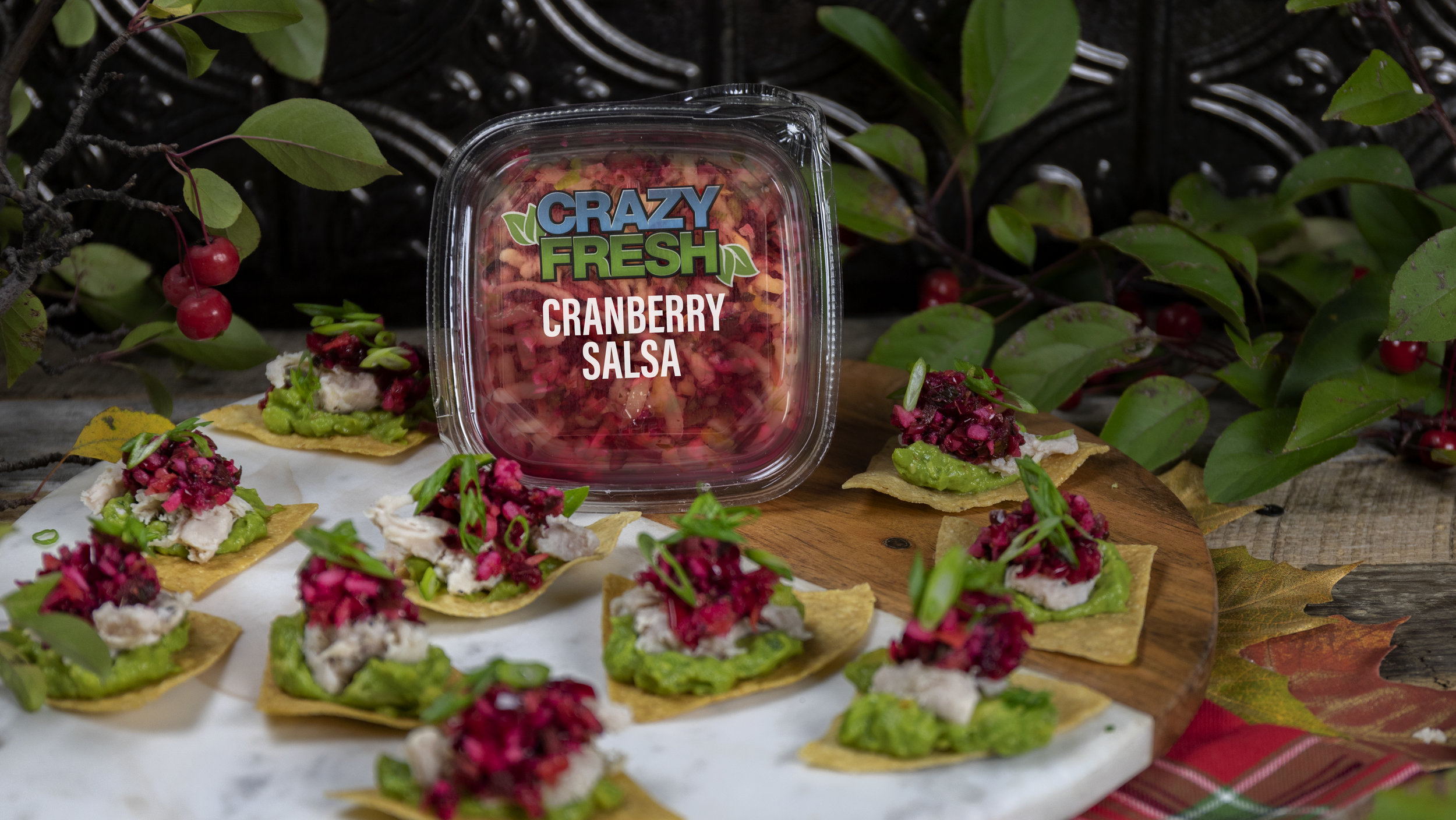 Mini Tostadas with Cranberry Salsa