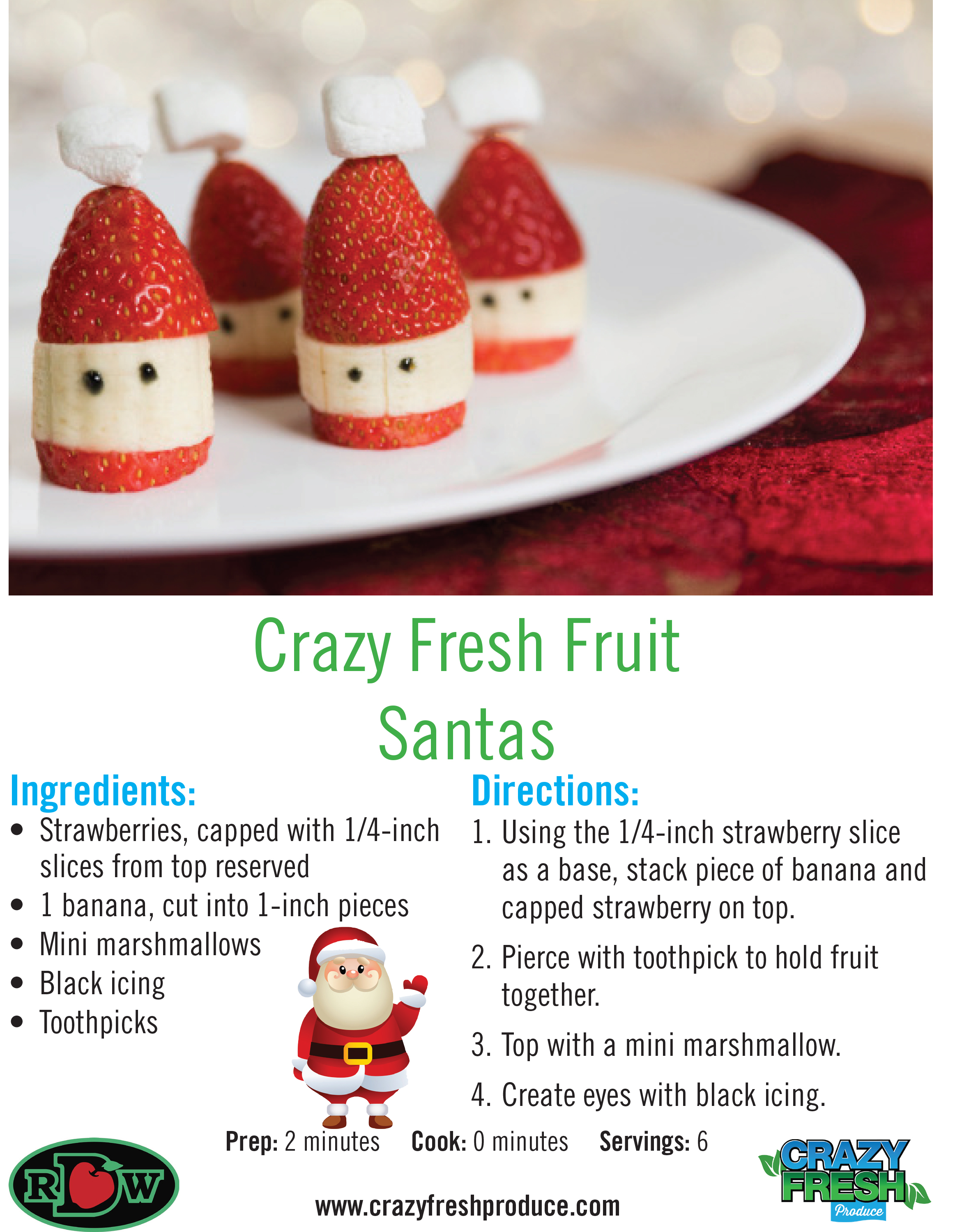 These Santa Claus strawberries are extra-cute for Christmas! Make these with your little ones to celebrate the holiday!