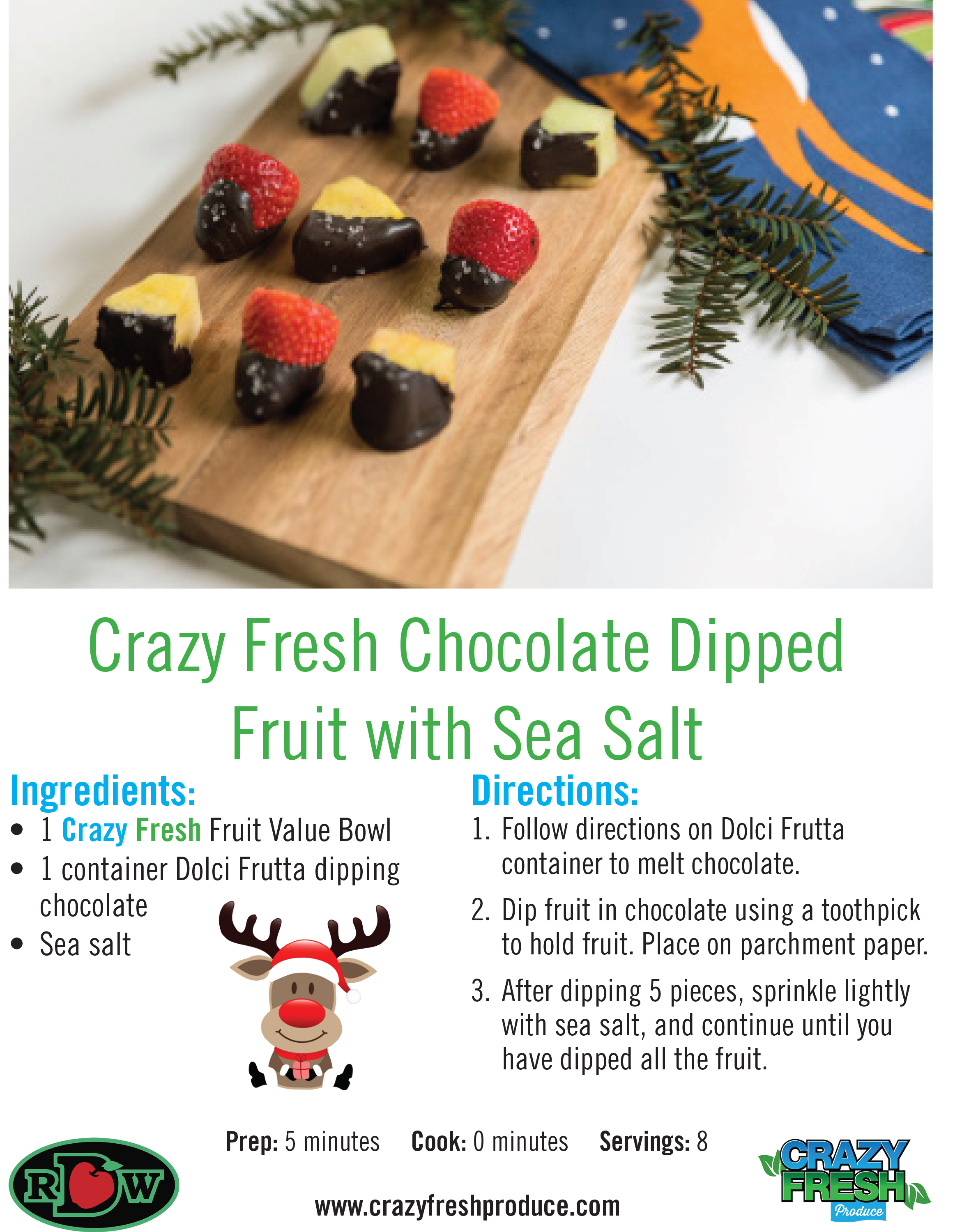 If your kids love fruit and chocolate, then they'll love mixing the two for a festive dessert!