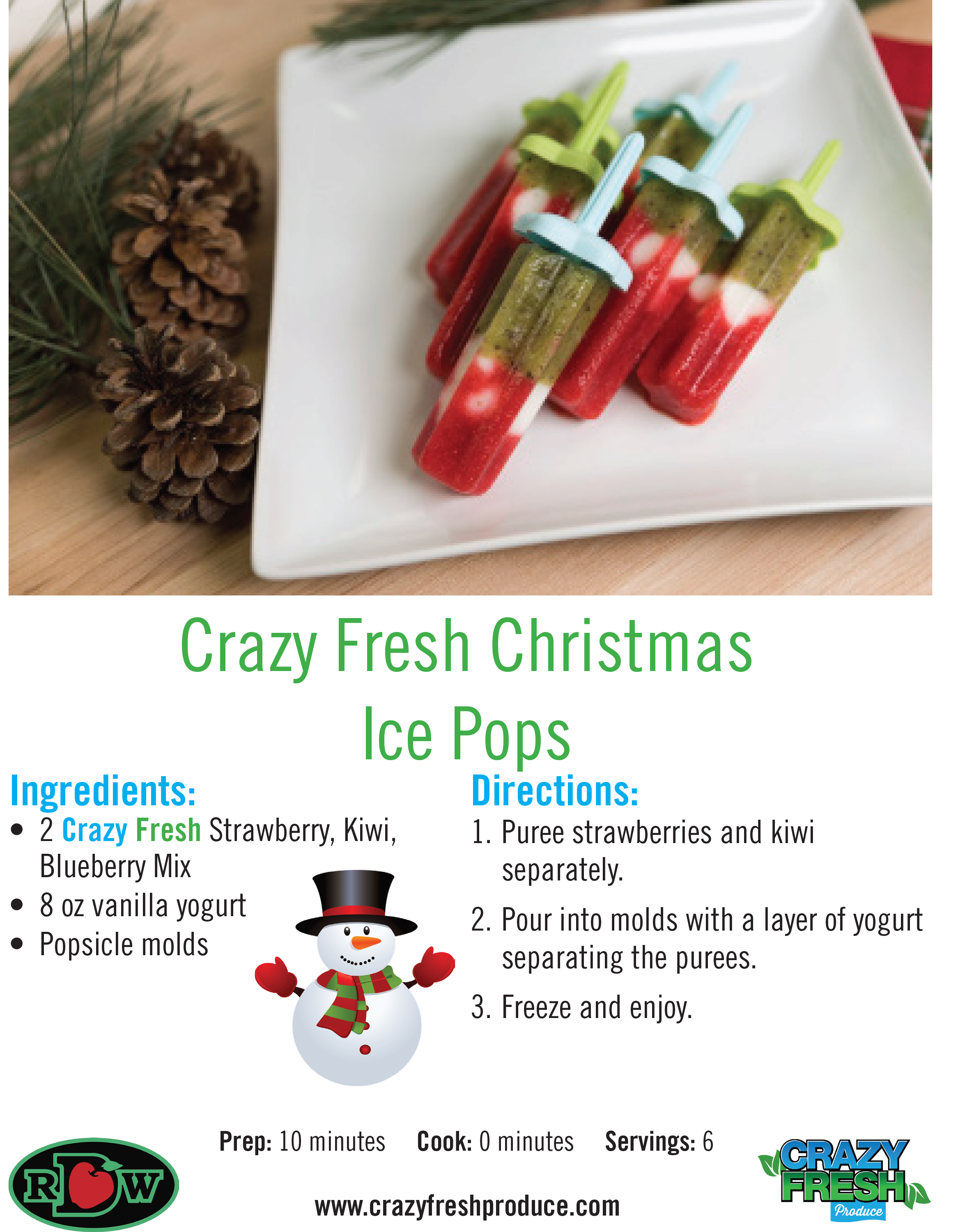 Just because it's cold outside doesn't mean you can't enjoy these yummy, healthy popsicles!