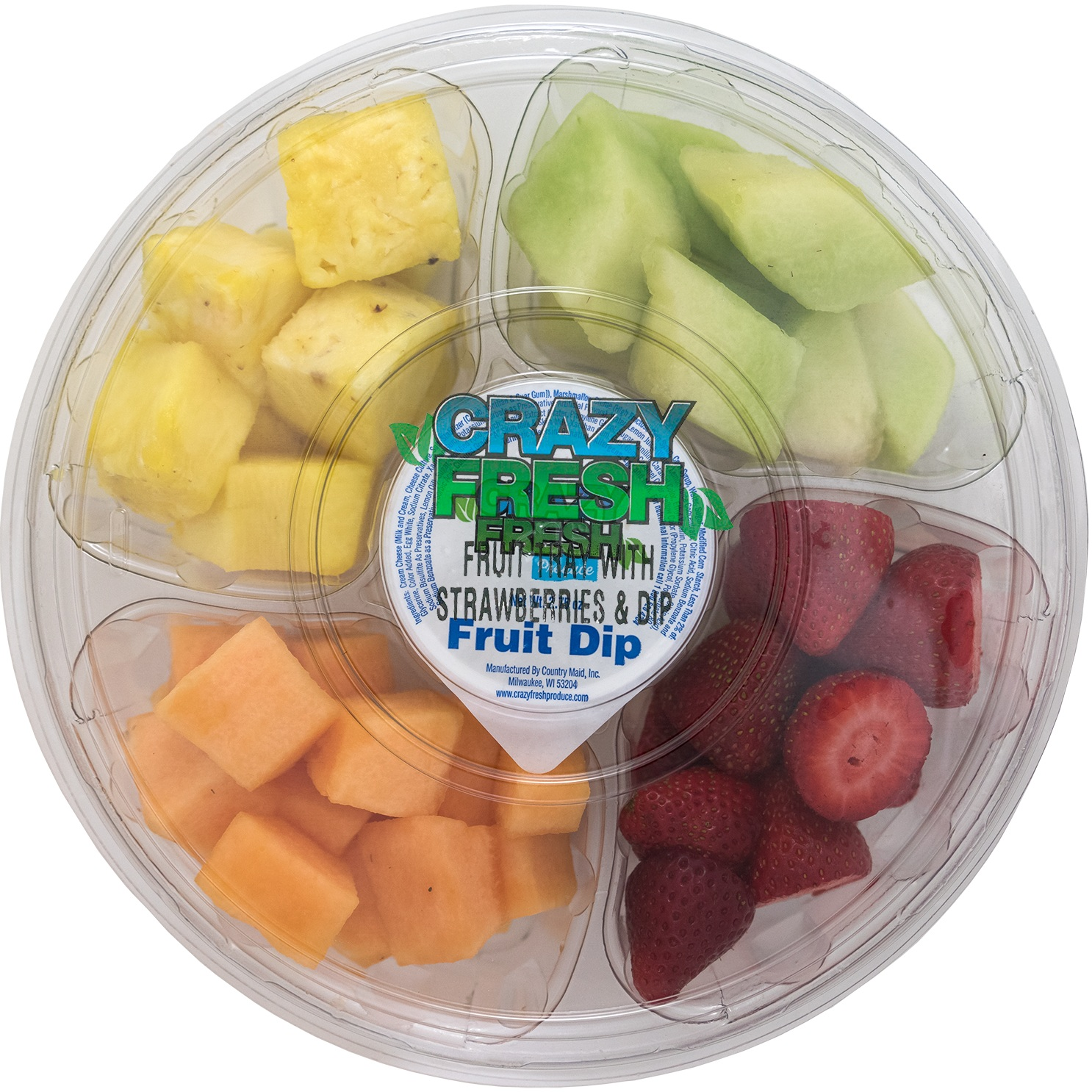 FRUIT TRAY WITH DIP 2.5 LBS. - 80901