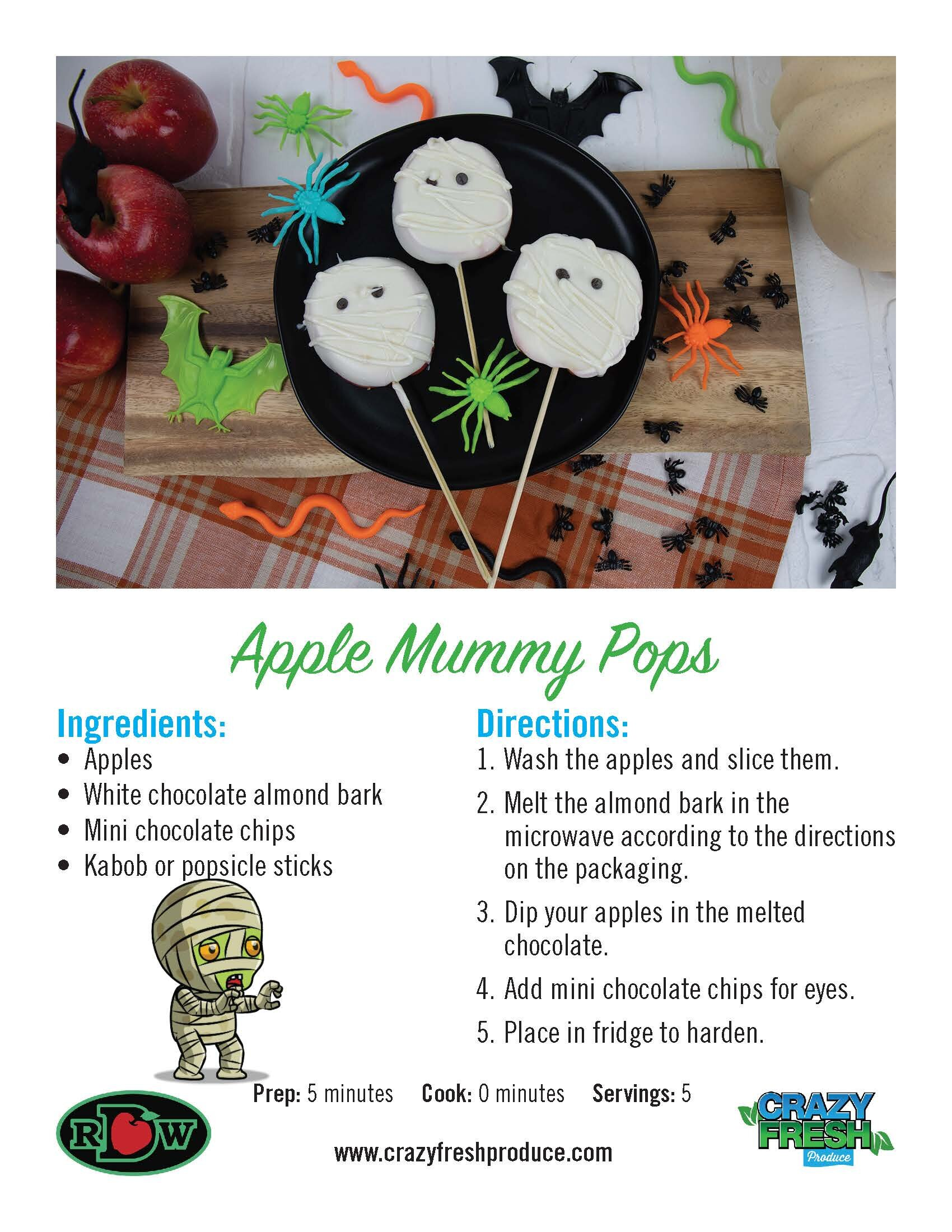 Chocolate apples just got a makeover for Halloween. Try these creepy mummy apples with your kids this holiday!