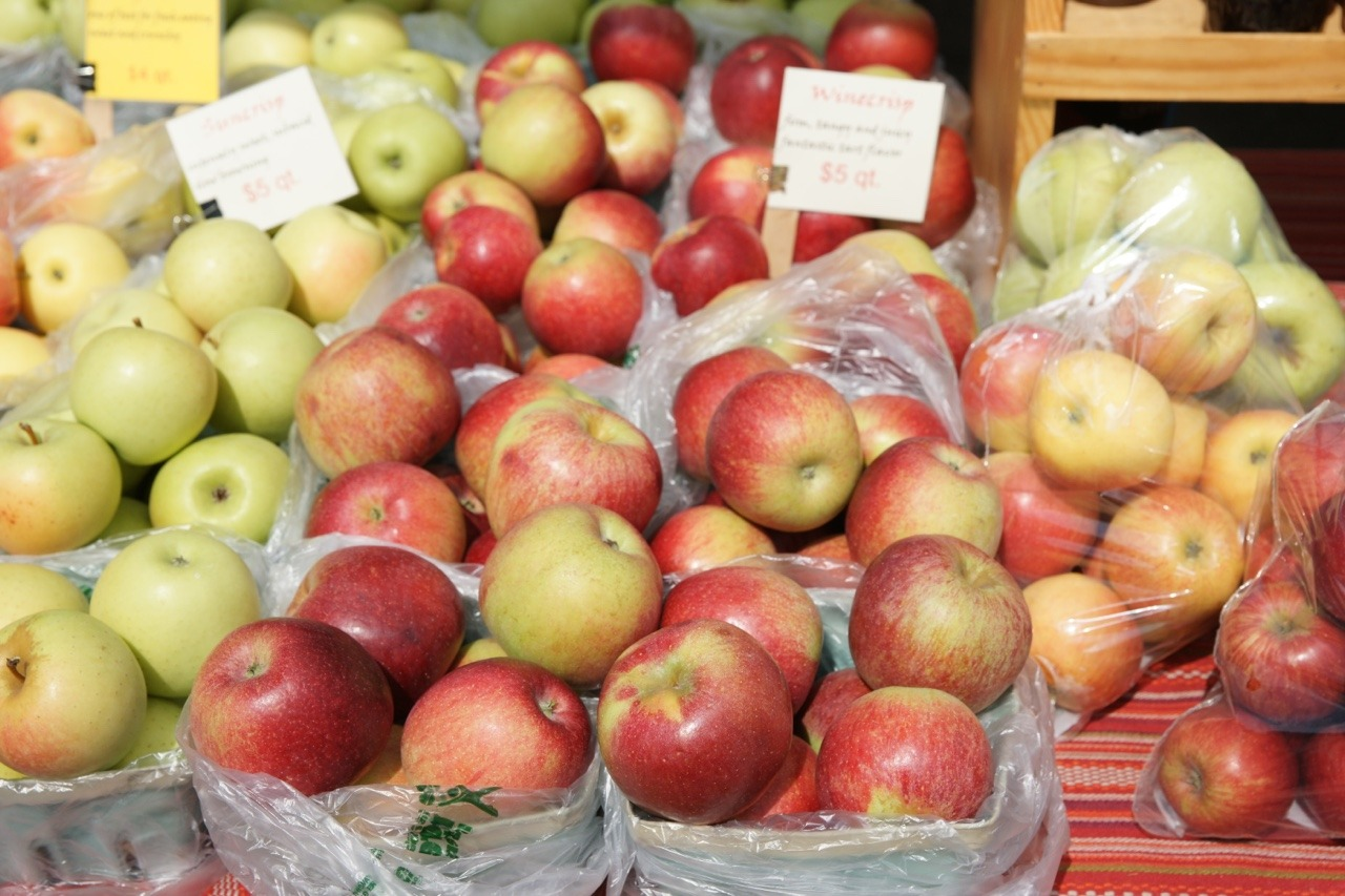 Locally grown apples at Bloomington, Indiana Farmers' Market, Fall 2017.