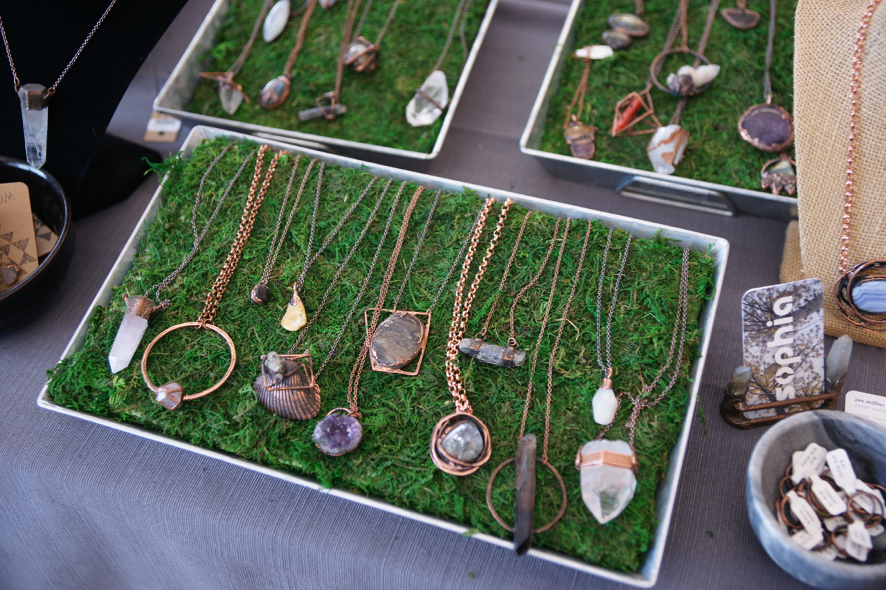 I also really liked this jewelry from the Sophia Collective, which recently opened in Bloomington.