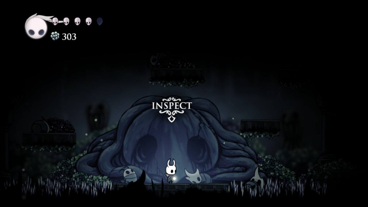 Hollow Knight. I think this was a graveyard. Whatever it was, it was creepy.