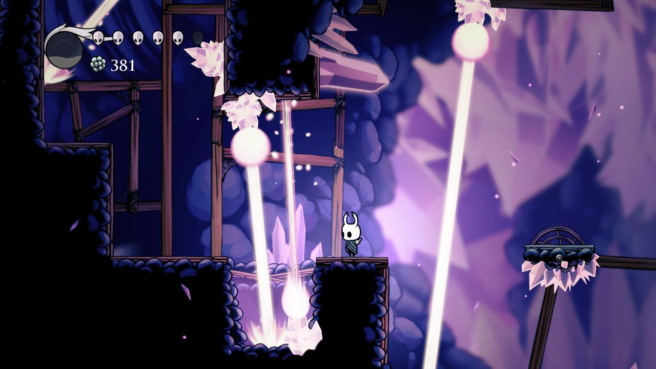 Hollow Knight. These lasers in Crystal Peak were fun. And when I say fun, I mean not fun.