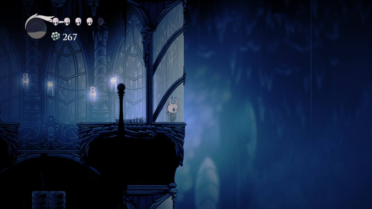Hollow Knight. Taking in the view, City of Tears.
