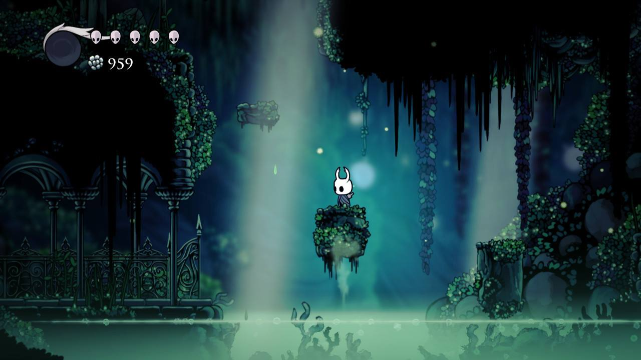 Hollow Knight. Jumping around in Greenpath.