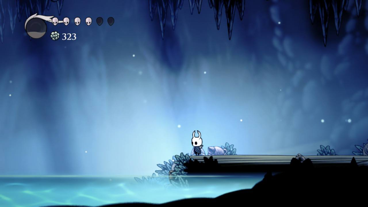 Hollow Knight. The Blue Lake in Crystal Peak.