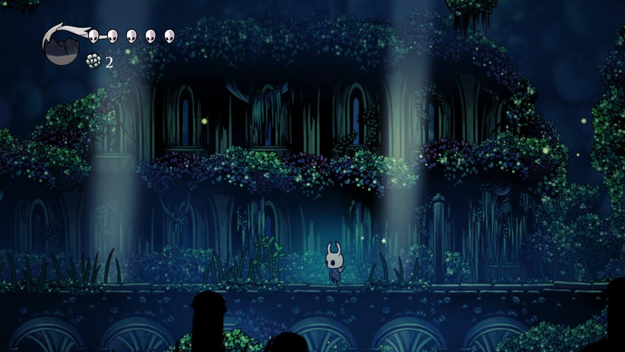 Hollow Knight. Greenpath again. Probably one of my favorite areas artistically speaking. Gameplay speaking, those mosquitos can go kill themselves.