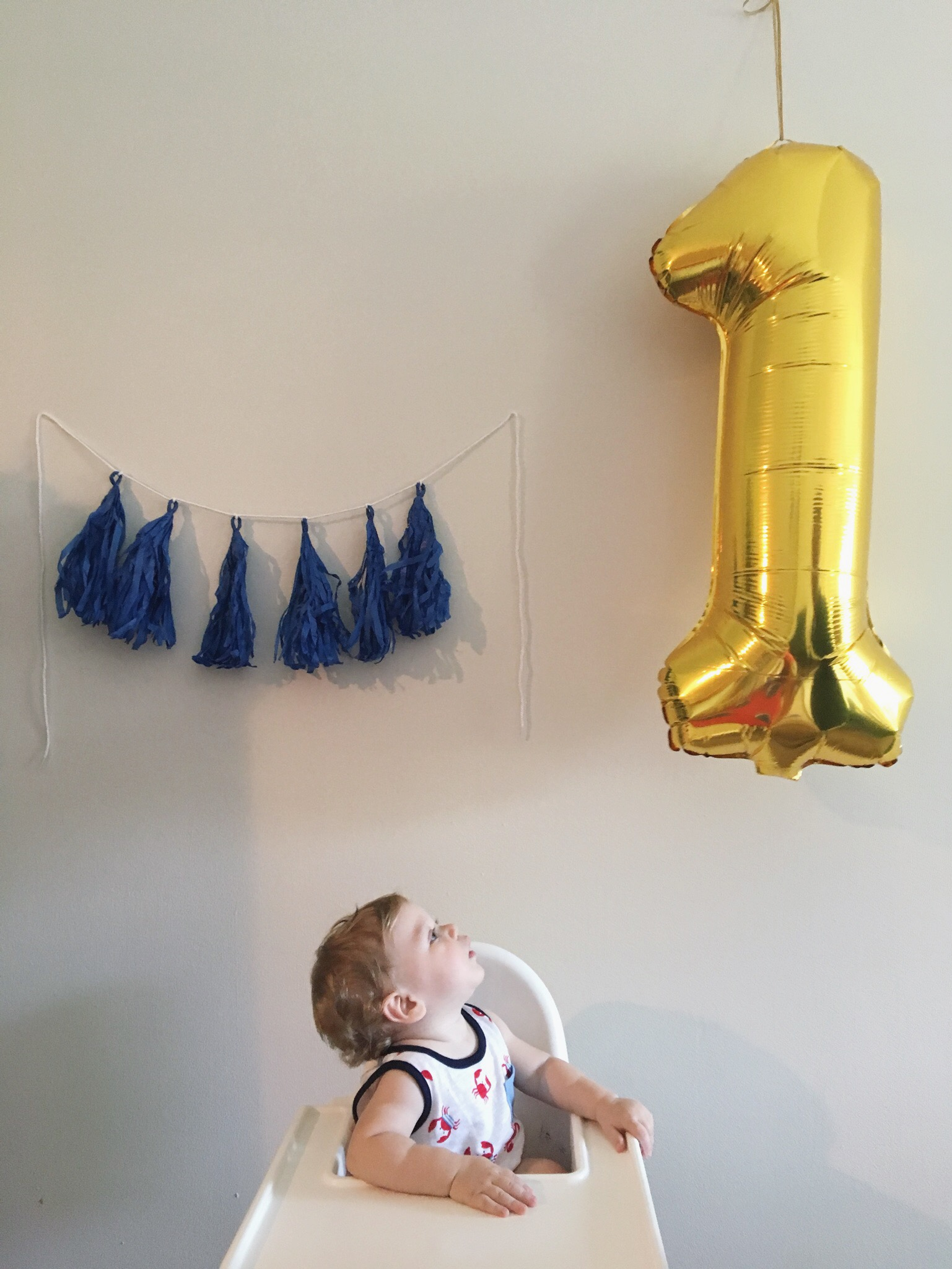 Gus' first birthday party.
