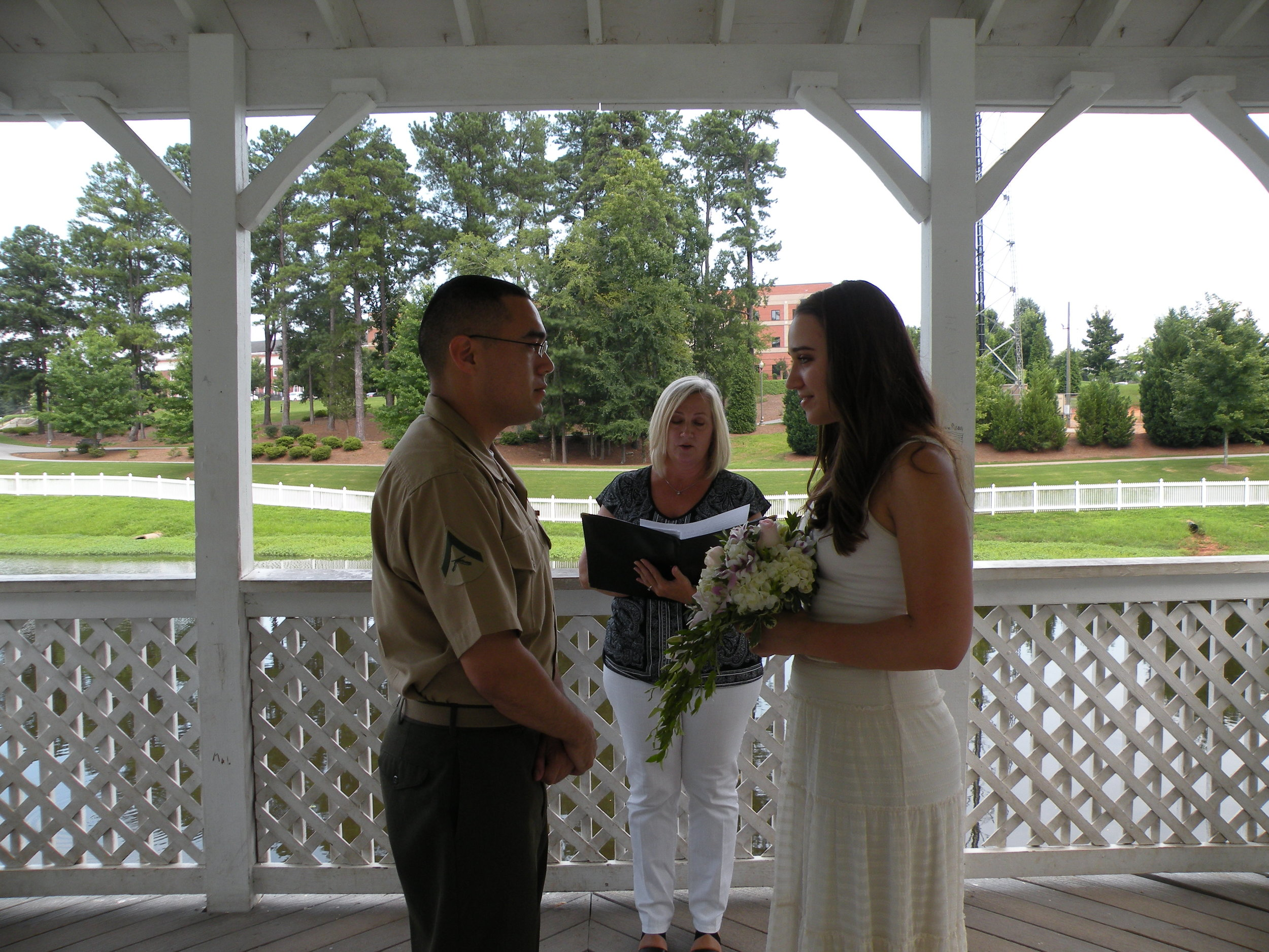 26 July 2013, Columbia County Courthouse. Saying our vows.