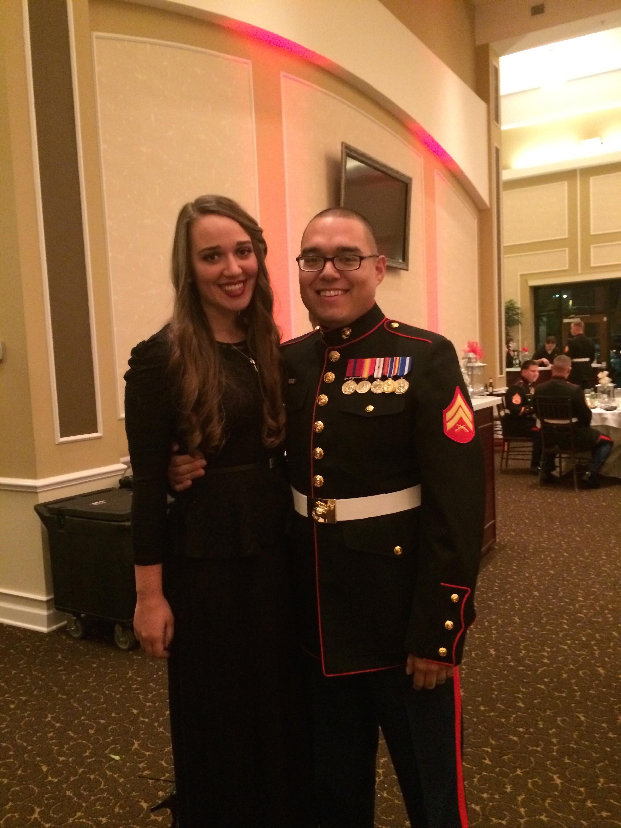 November 2014, Augusta, Georgia. Our second Marine Corps Ball.