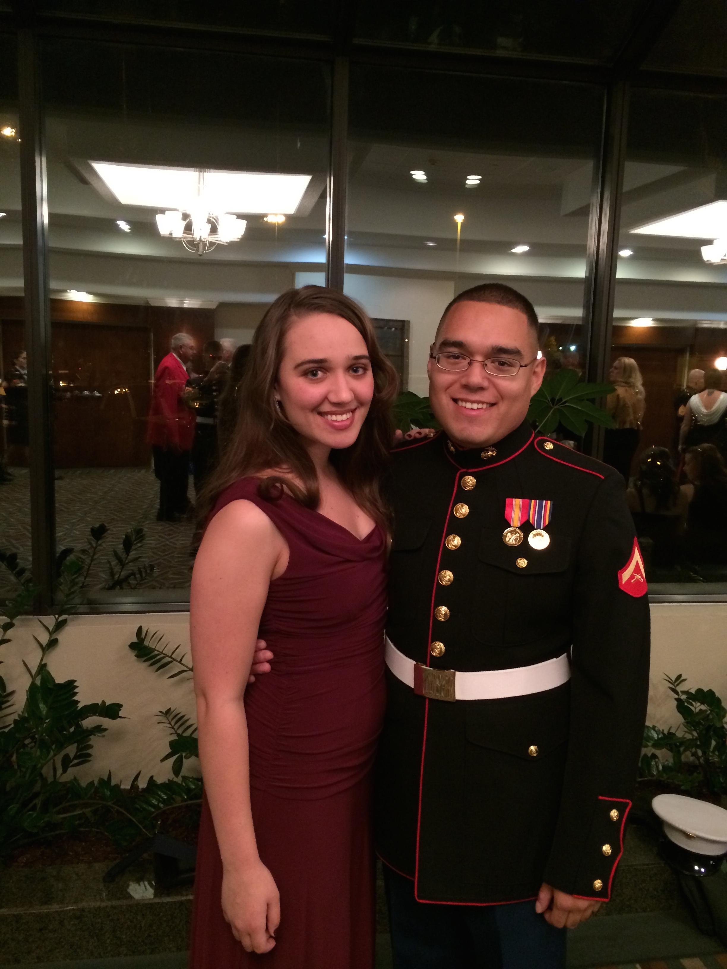 November 2013, Augusta, Georgia. Our first Marine Corps Ball.