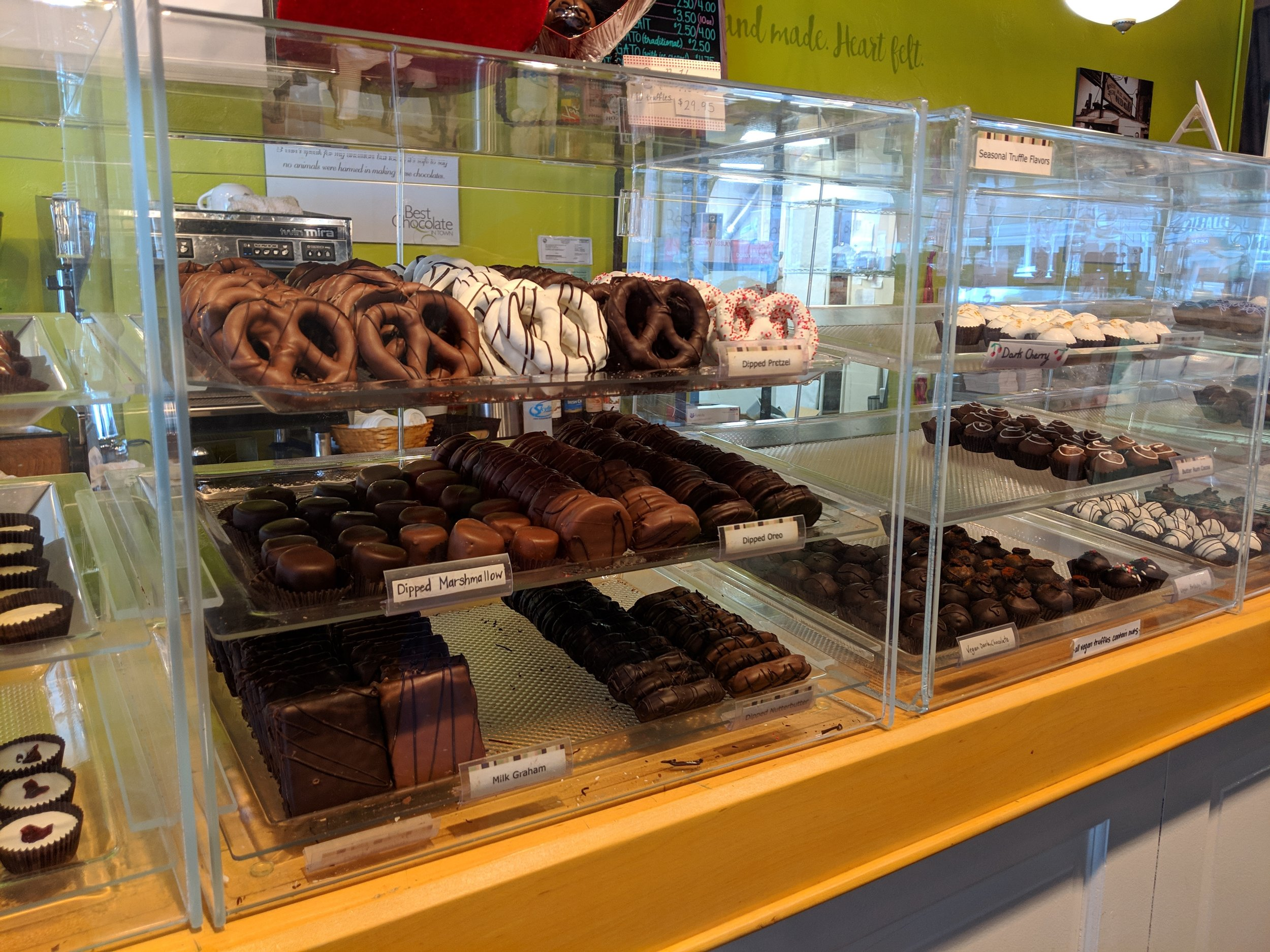Best Chocolates in Town, Mass Ave, Indianapolis.
