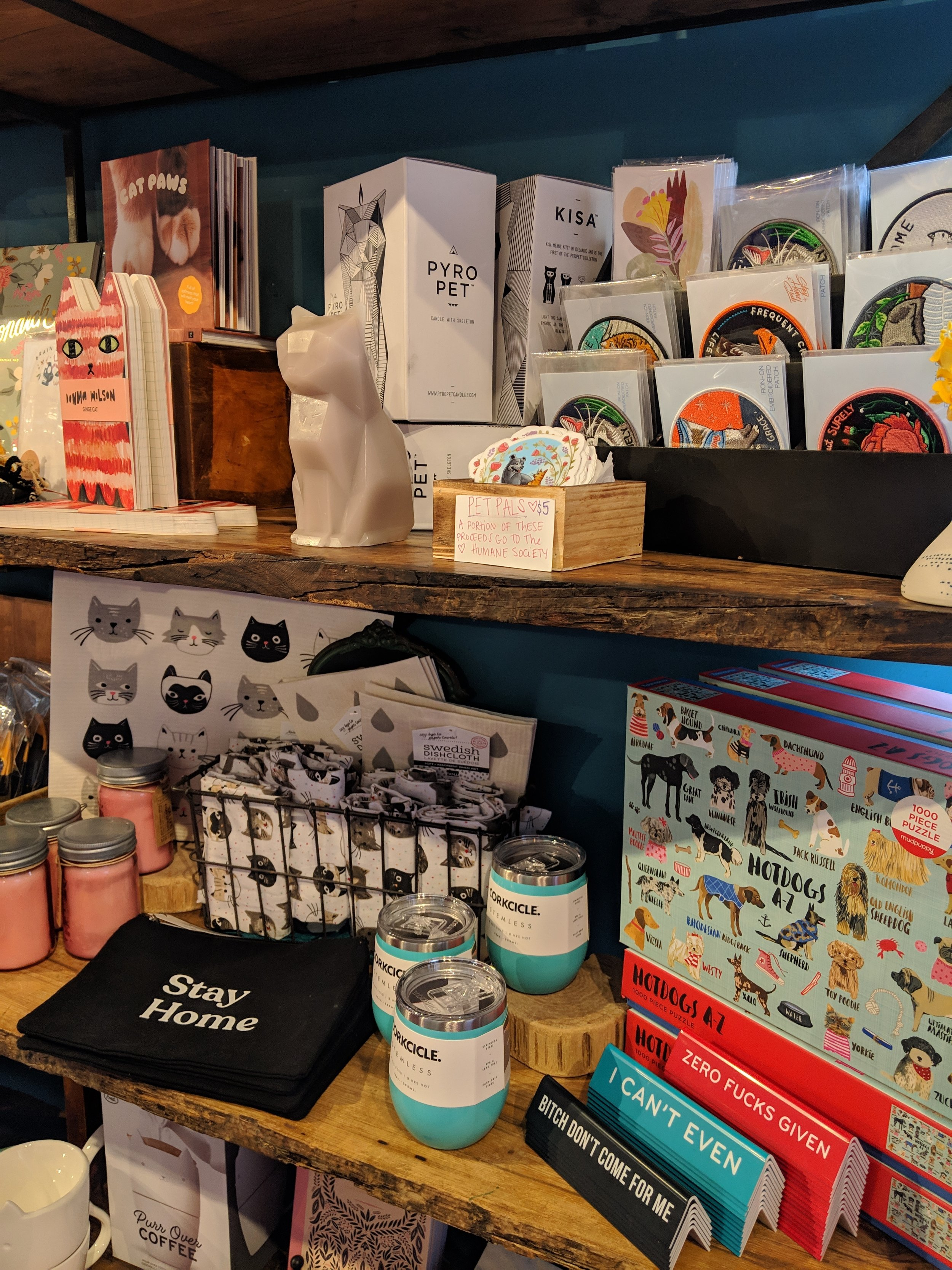 Gifts for your favorite cat lover at Silver in the City on Mass Ave in Indianapolis.