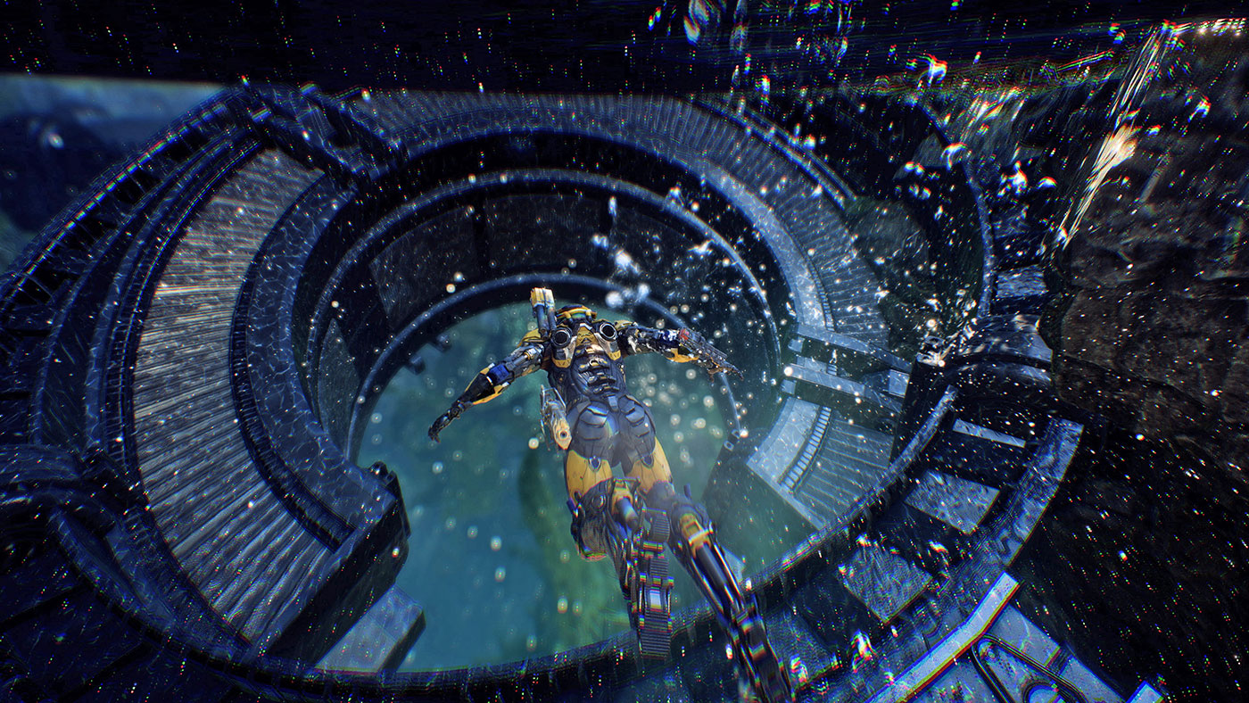 Screenshot from Anthem.  Image Source: Gearnuke
