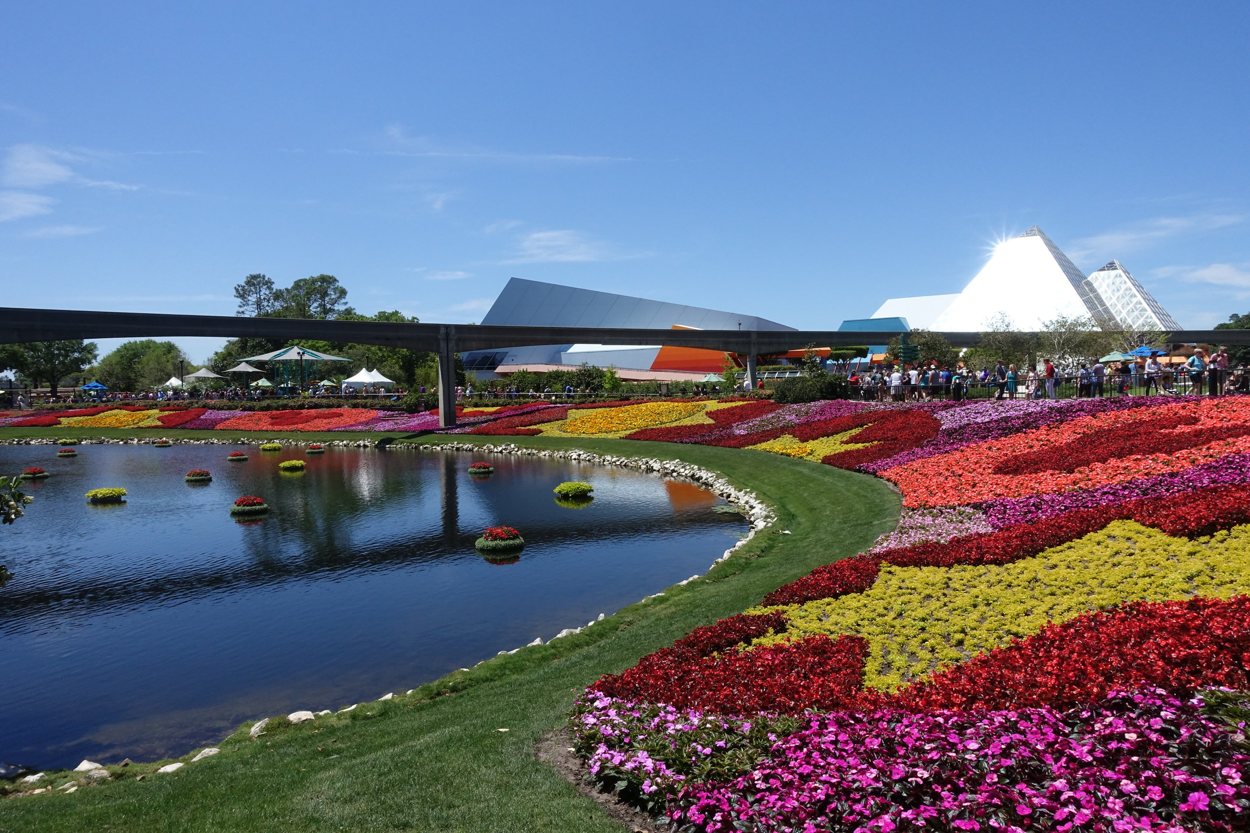 A breathtaking view in Epcot.