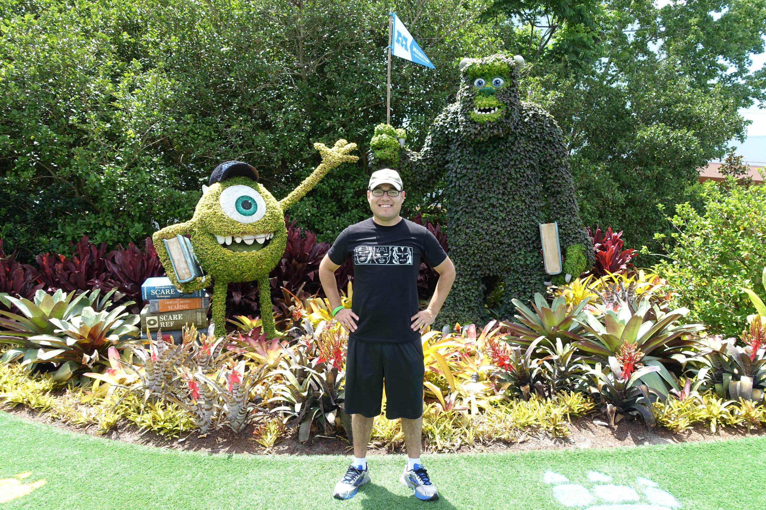 Ries with some of his friends from Monsters Inc.