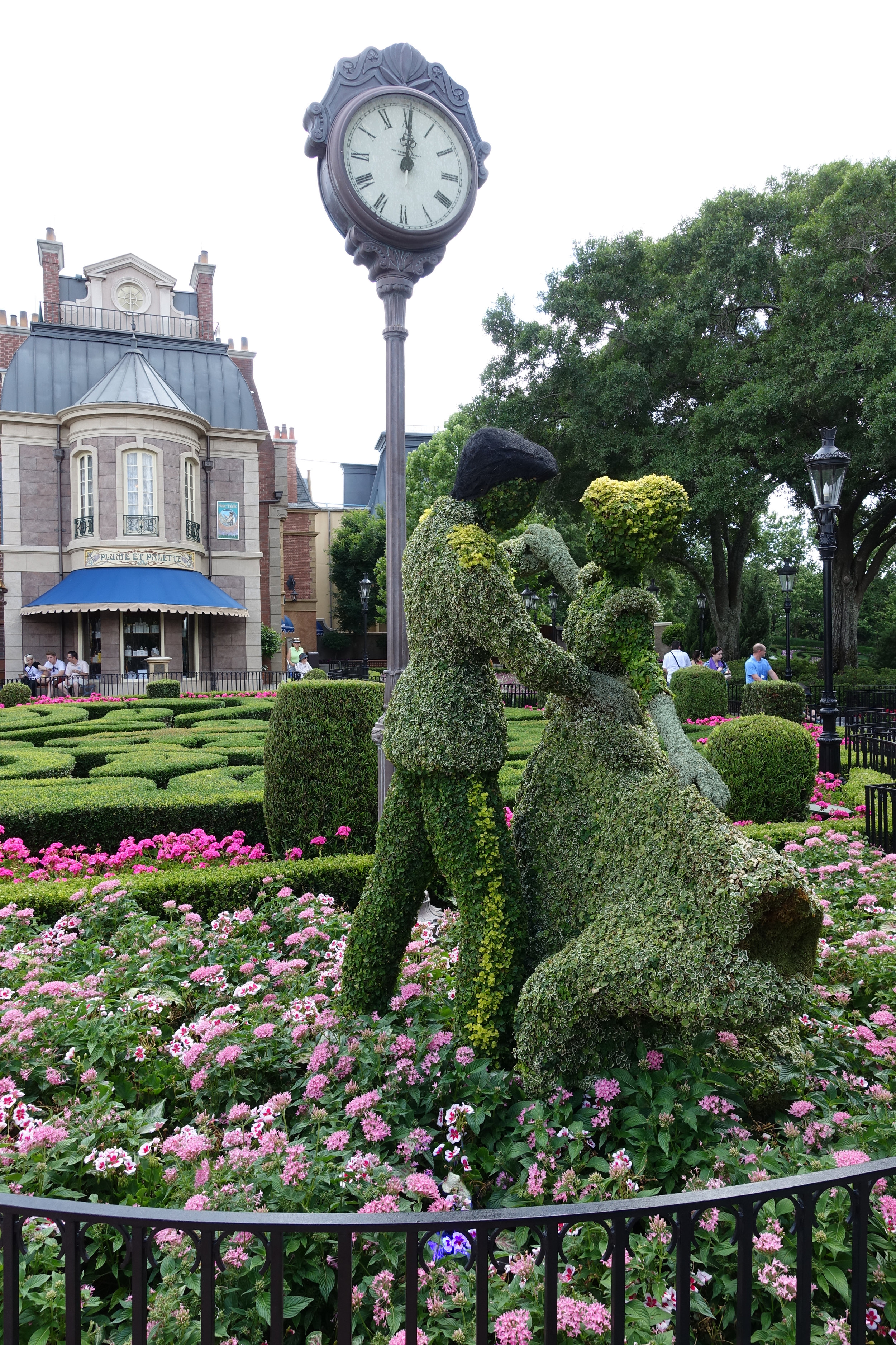 My favorite topiary-- Cinderella and Prince Charming.