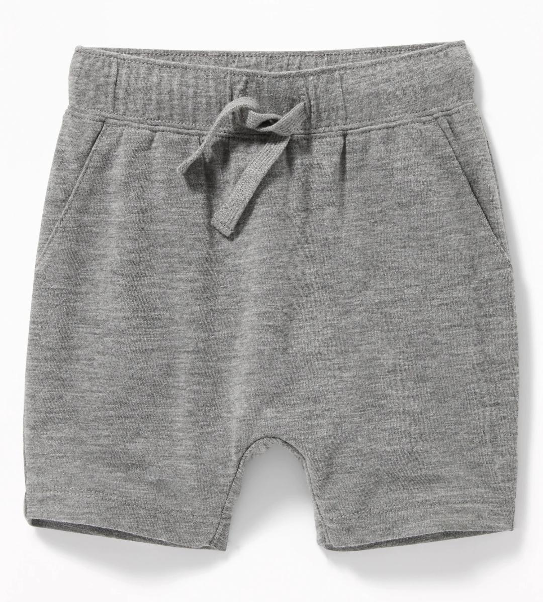 U-Shaped Shorts in Dark Heather Gray