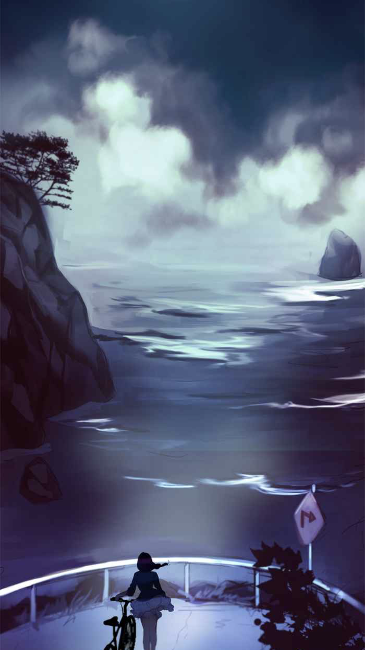 A screen capture from the Siren's Lament Webtoon by instantmiso.