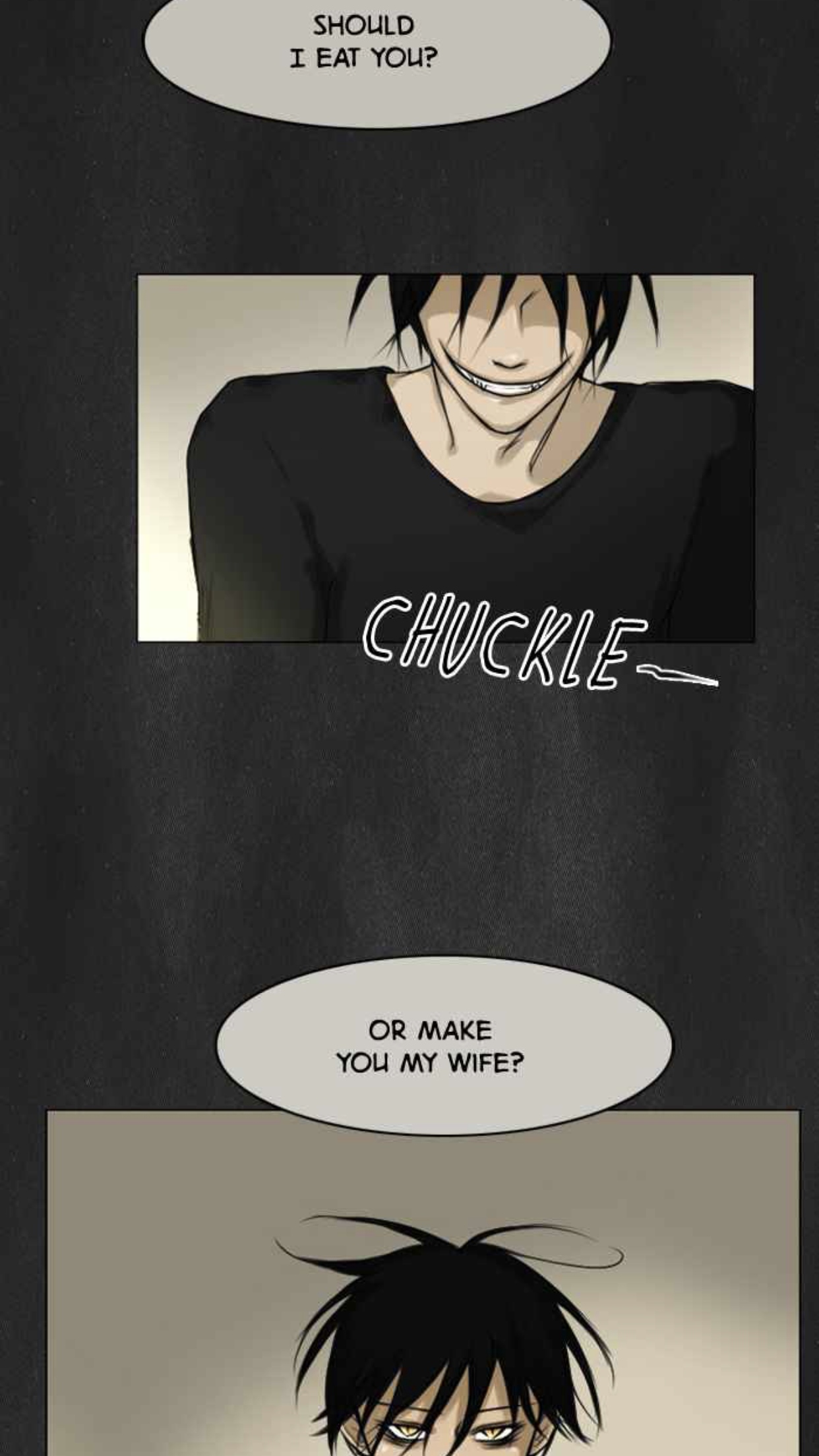A screen capture from the Ghost Wife Webtoon by Saejung.