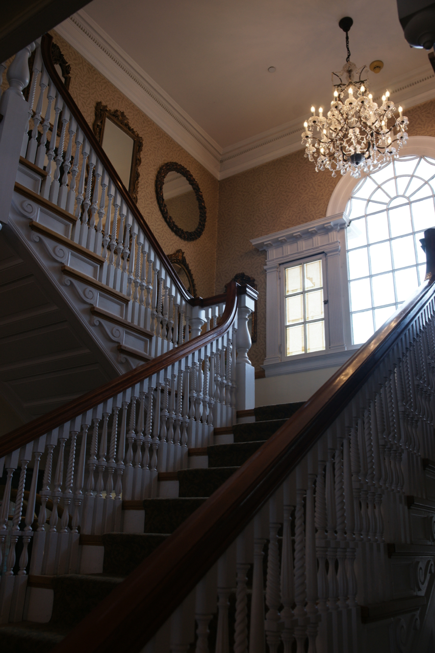 A stairwell, The Stanley Hotel, Estes Park, Colorado.