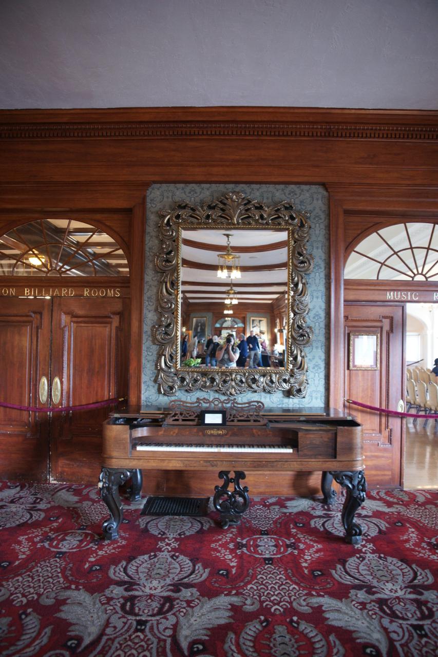 Chickering & Sons antique piano in The Stanley Hotel, Estes Park, Colorado.