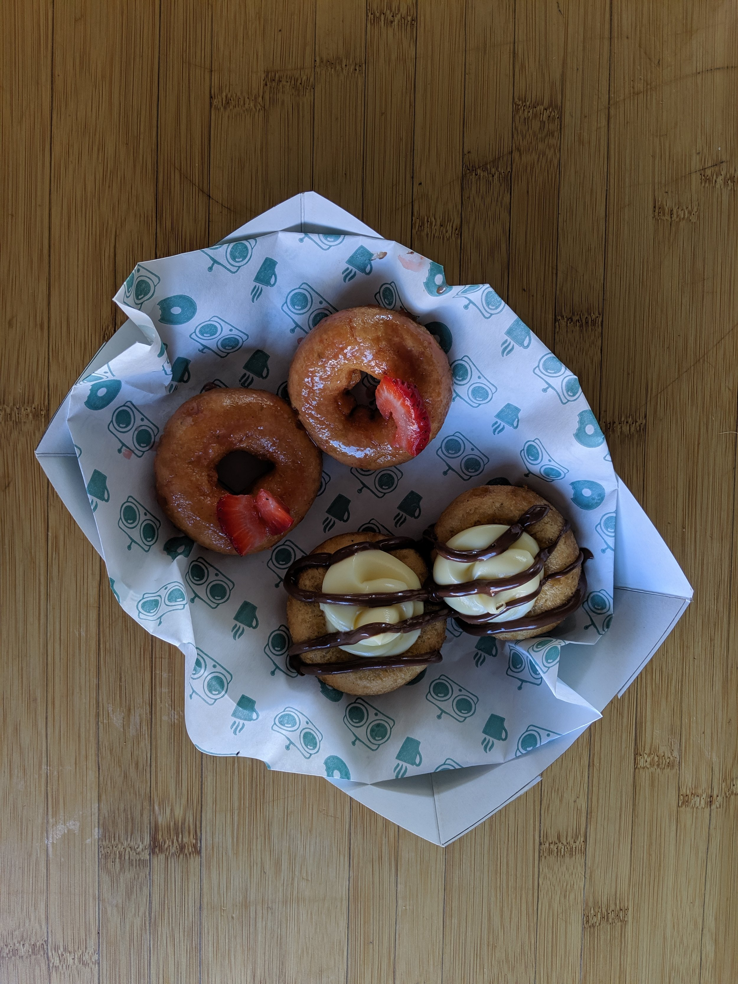A sampling of FoCo DoCo (Fort Collins Donut Company) in Old Town.