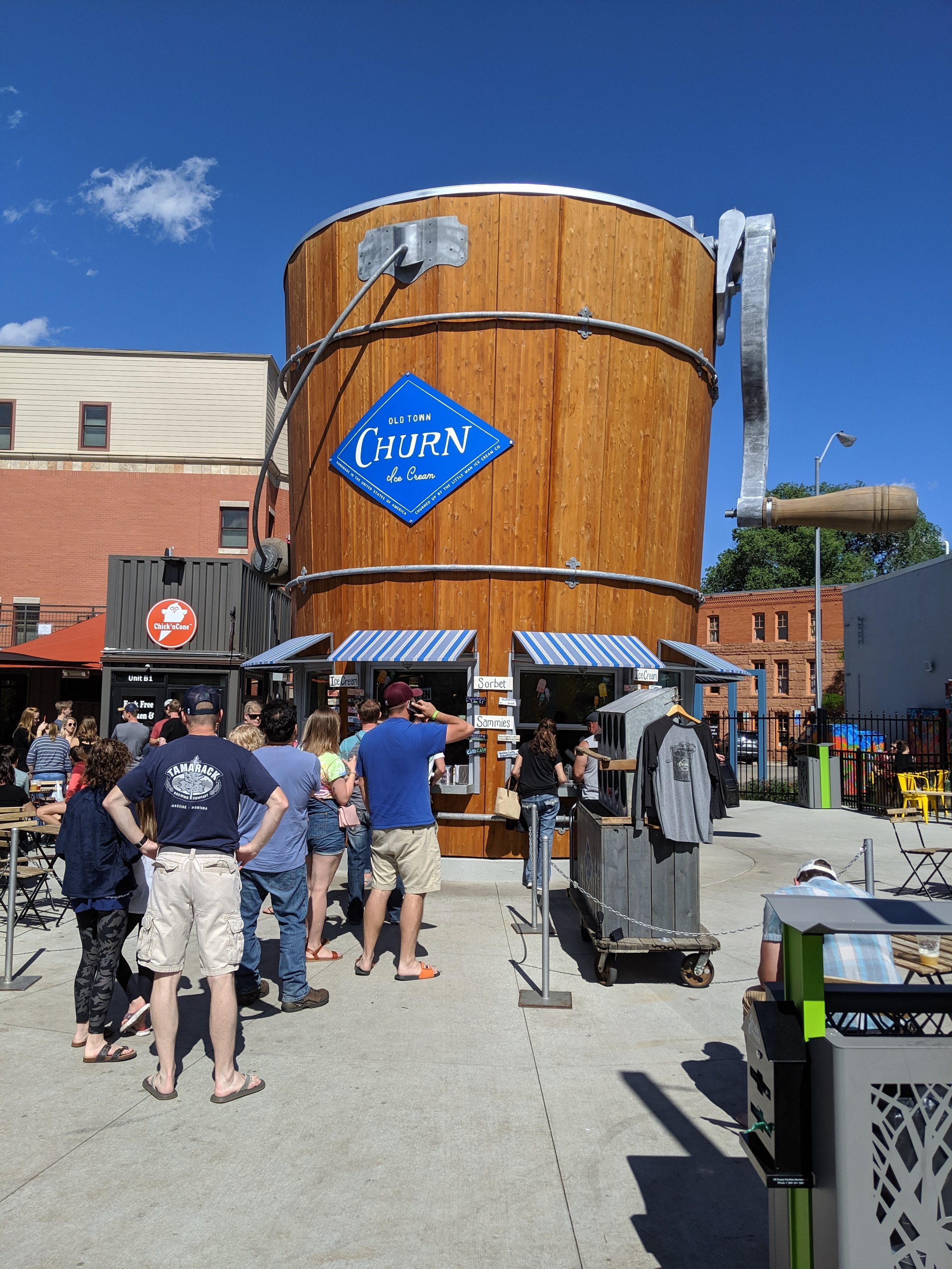 Churn in Old Town Fort Collins, Colorado.