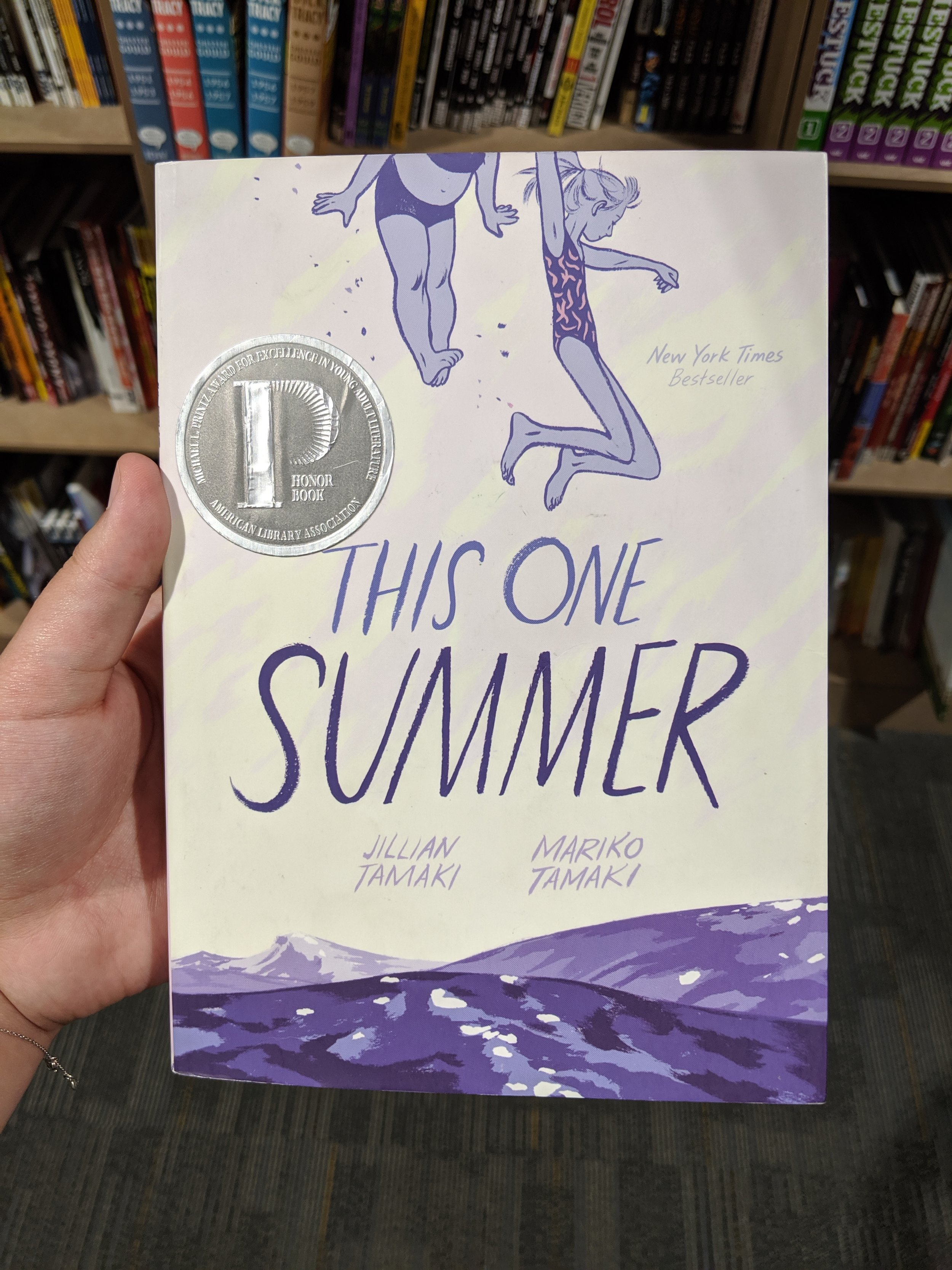 """This One Summer"" by Jillian Tamaki and Mariko Tamaki at 2nd and Charles in Fort Collins, Colorado."
