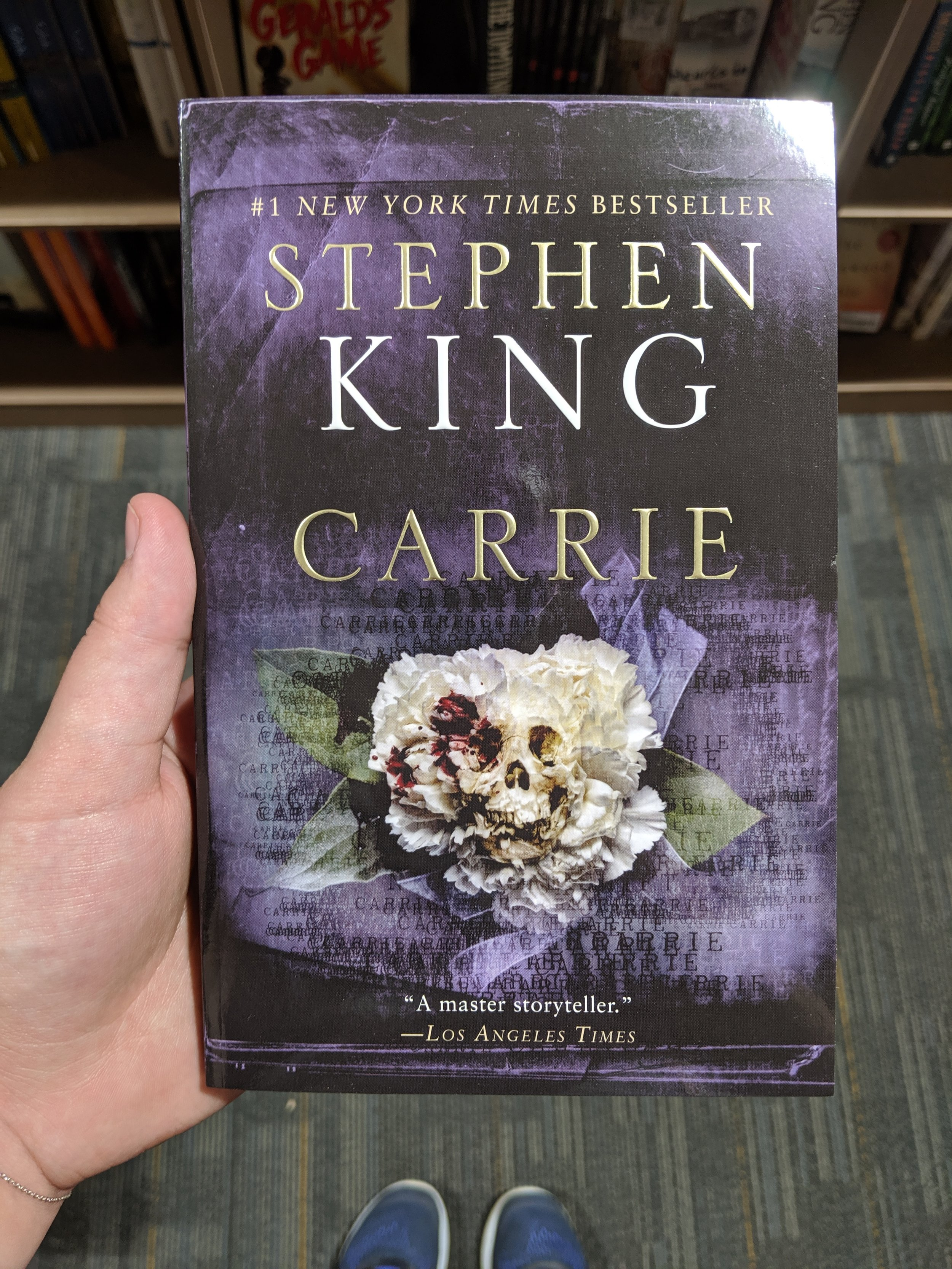 Carrie by Stephen King at 2nd and Charles in Fort Collins, Colorado. My first book of the summer.