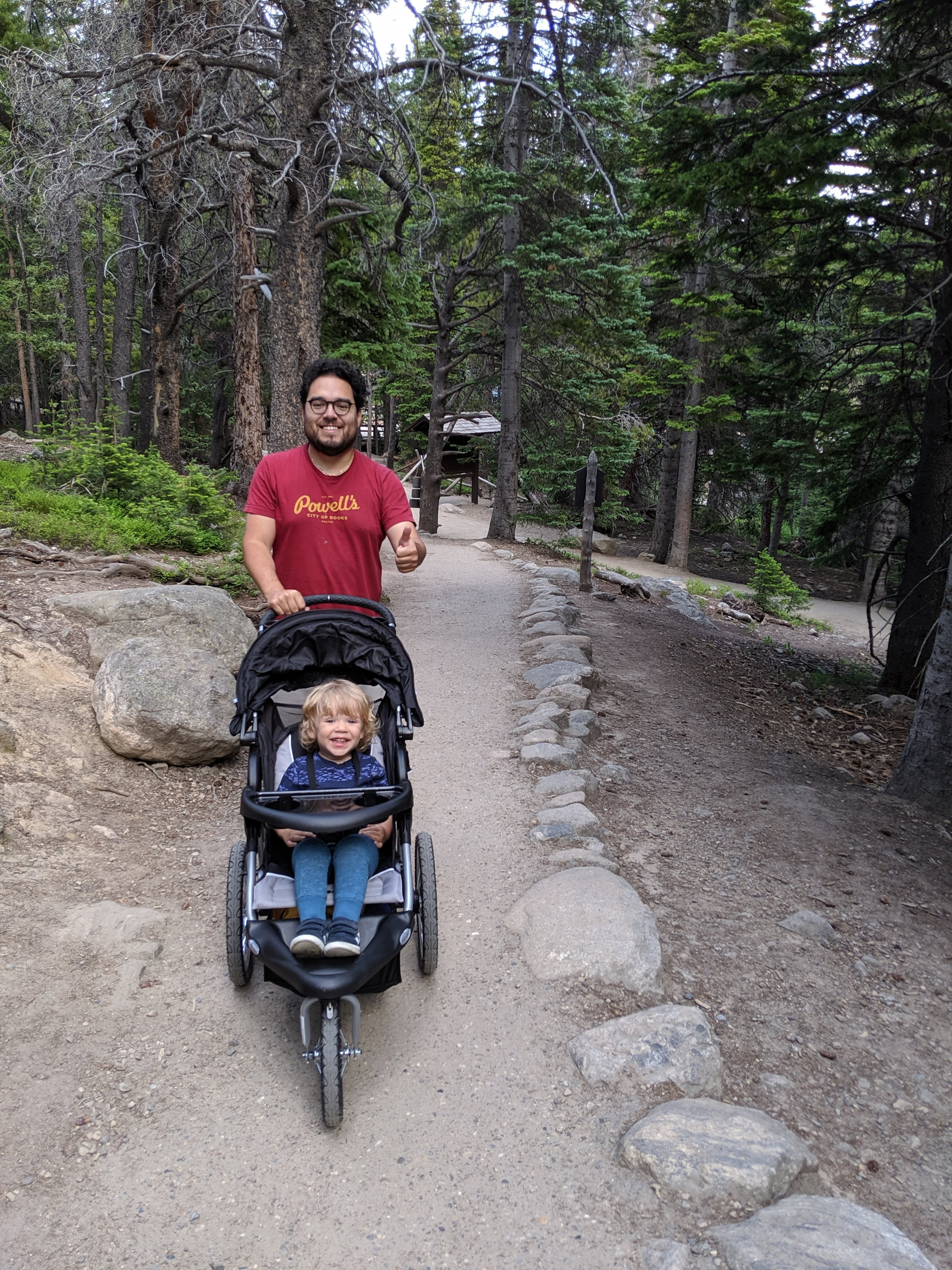 Ries and his happy rider in Rocky Mountain National Park, Estes Park, Colorado.