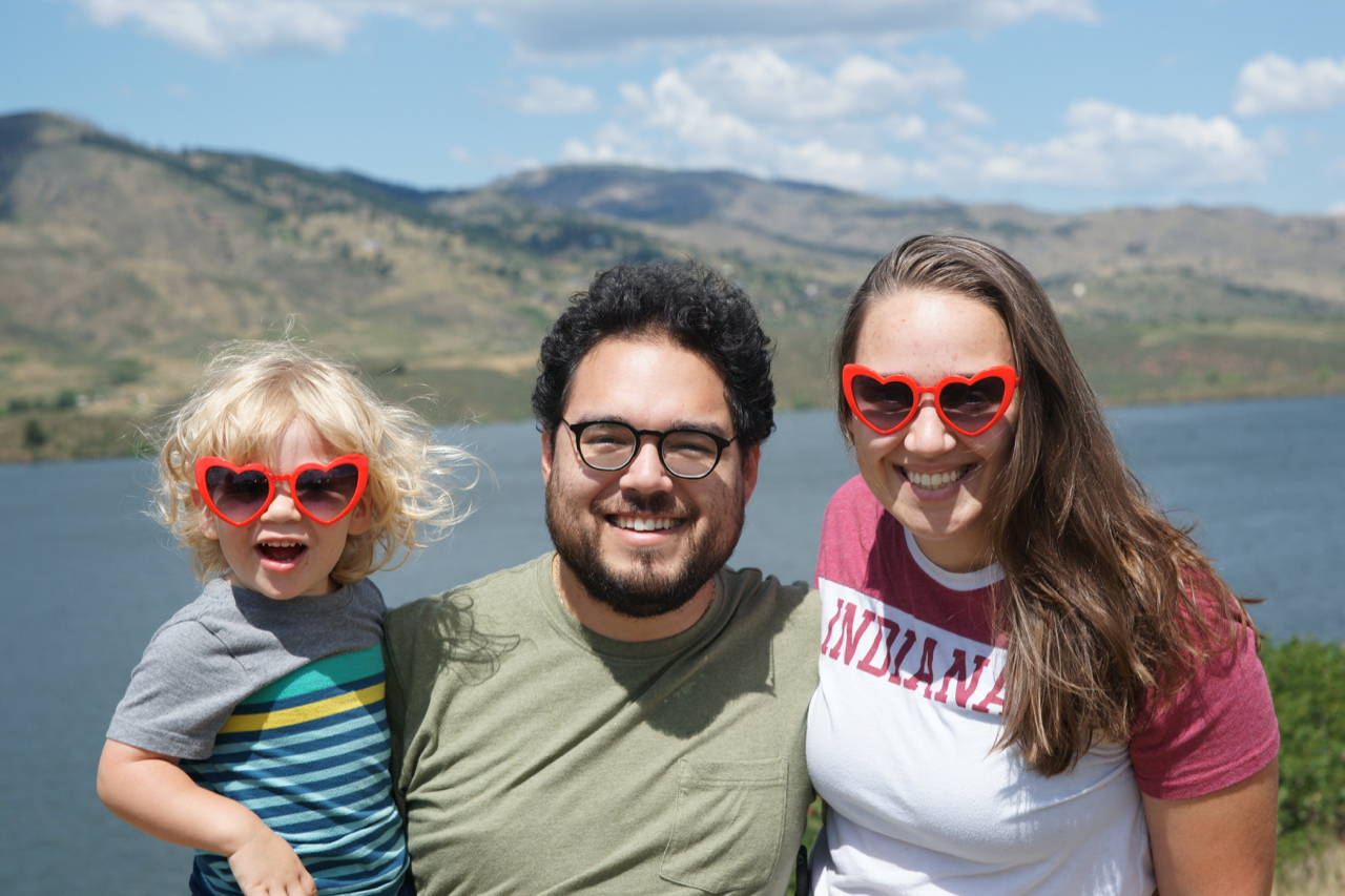 Gus, Ries, and I at Horsetooth Reservoir in Fort Collins, Colorado.